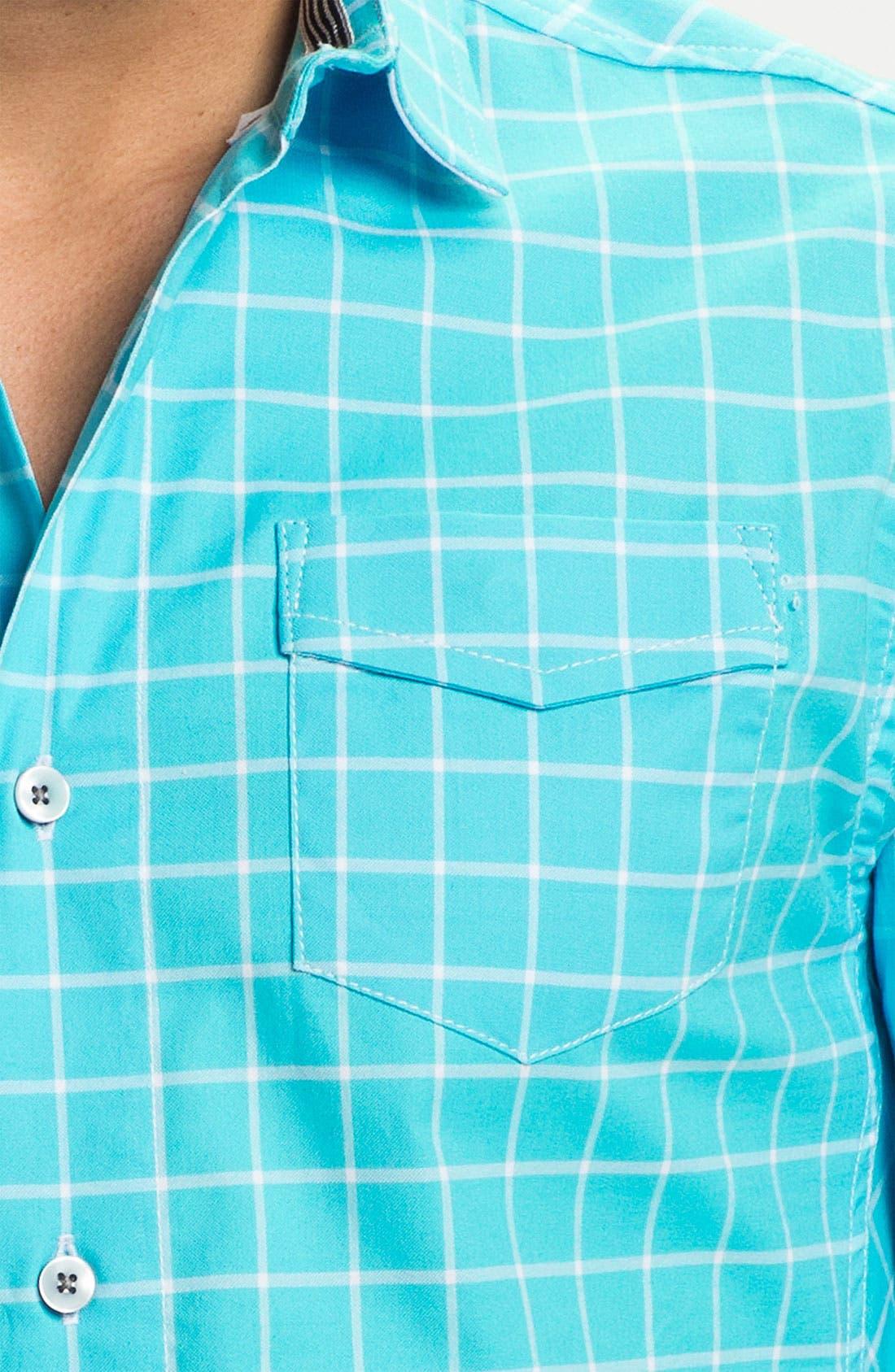 Alternate Image 3  - Descendant of Thieves Windowpane Woven Shirt