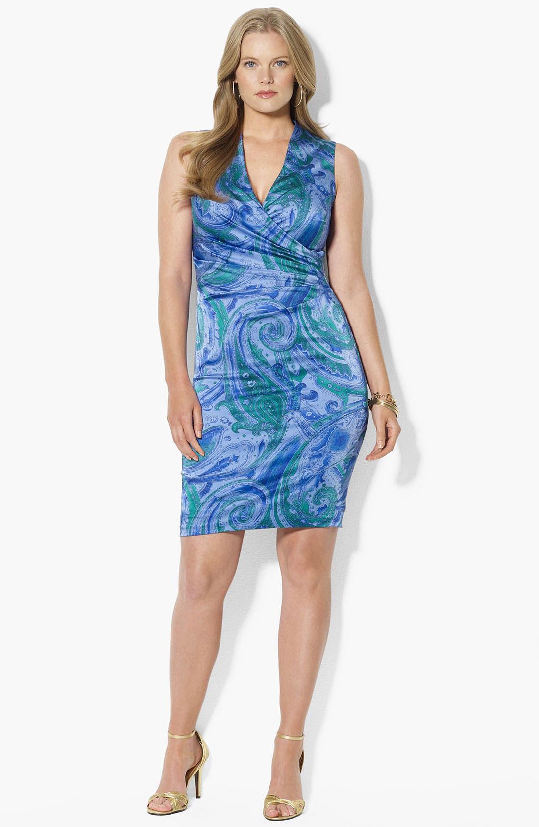 Main Image - Lauren Ralph Lauren Print Sheath Dress (Plus Size)
