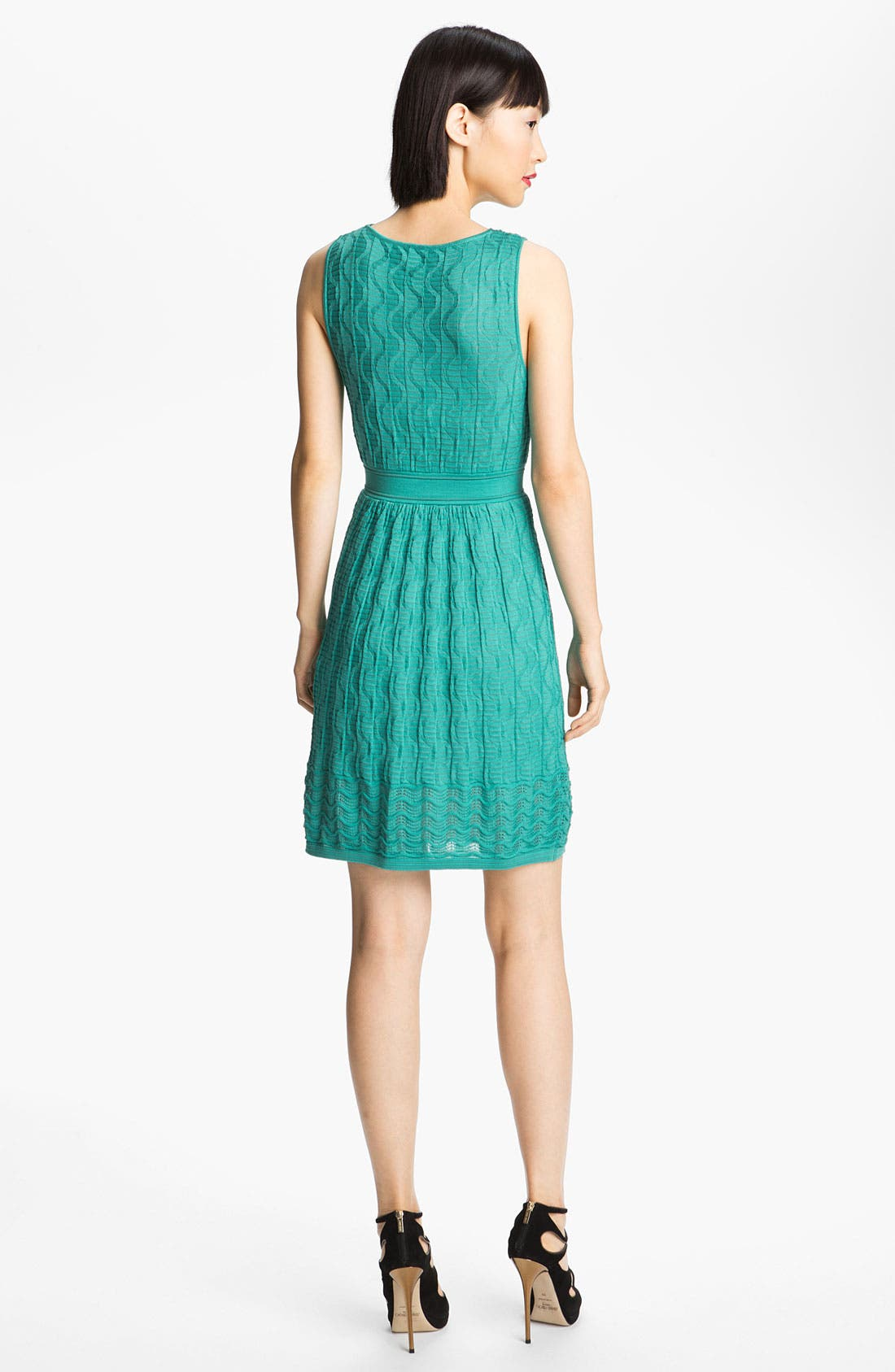 Alternate Image 2  - M Missoni Knit V-Neck Dress