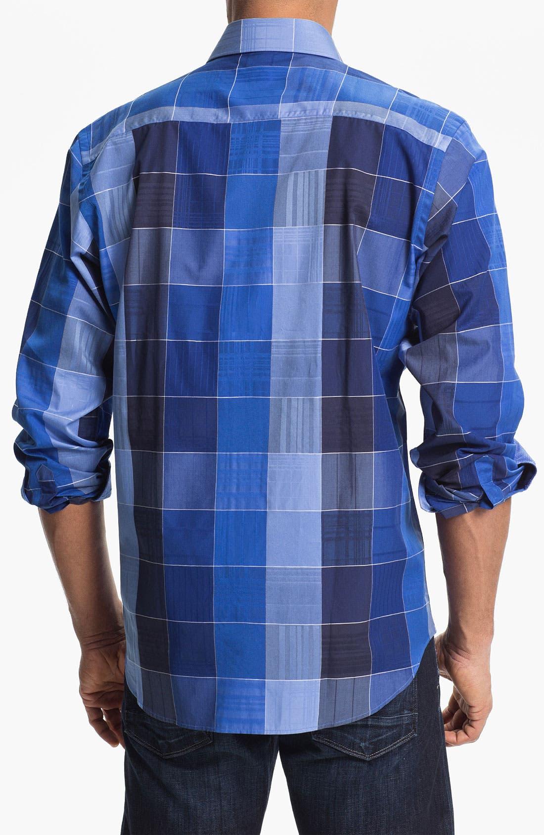 Alternate Image 3  - BUGATCHI Classic Fit Sport Shirt