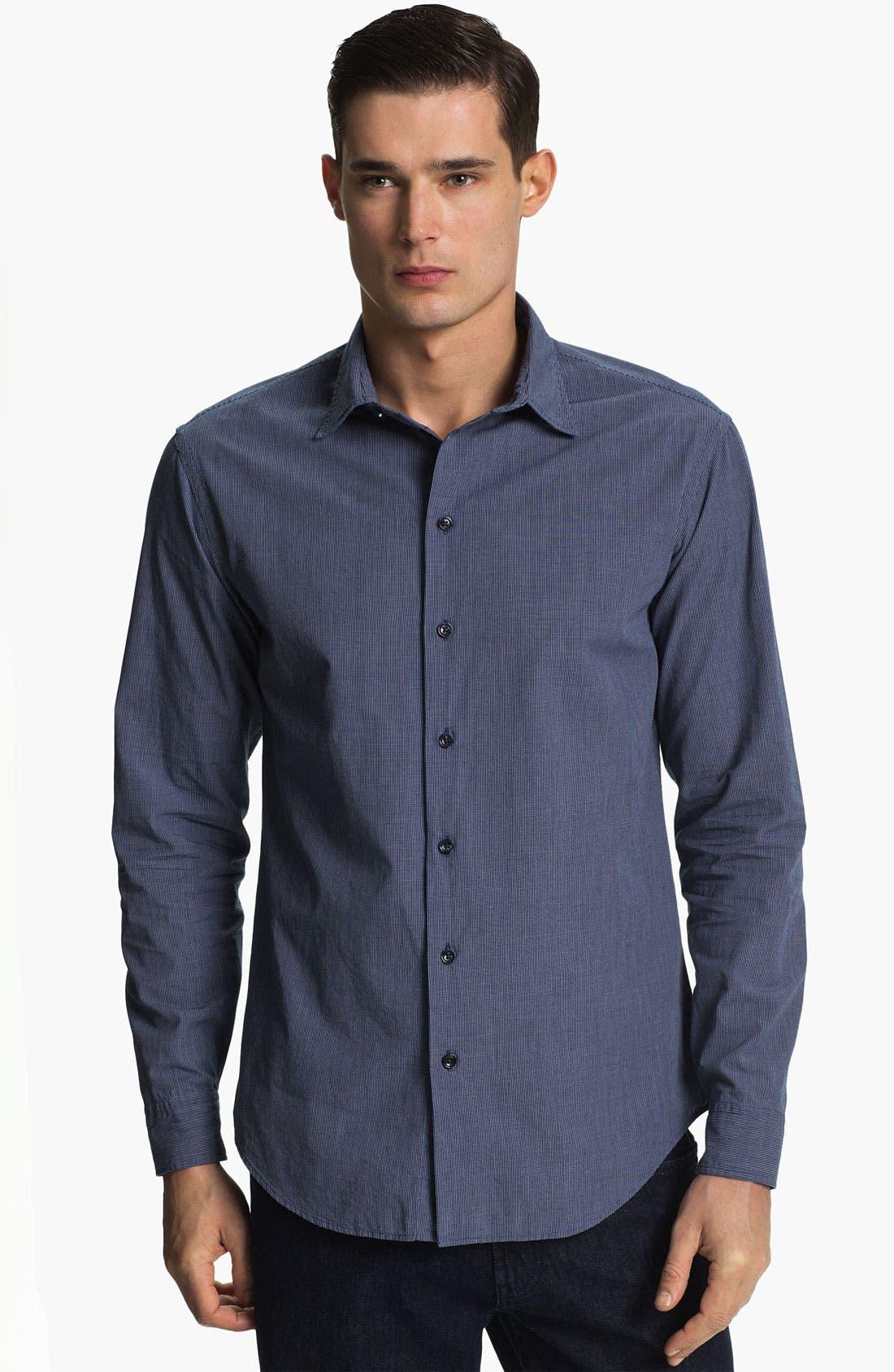 Alternate Image 1 Selected - Armani Collezioni Check Sport Shirt