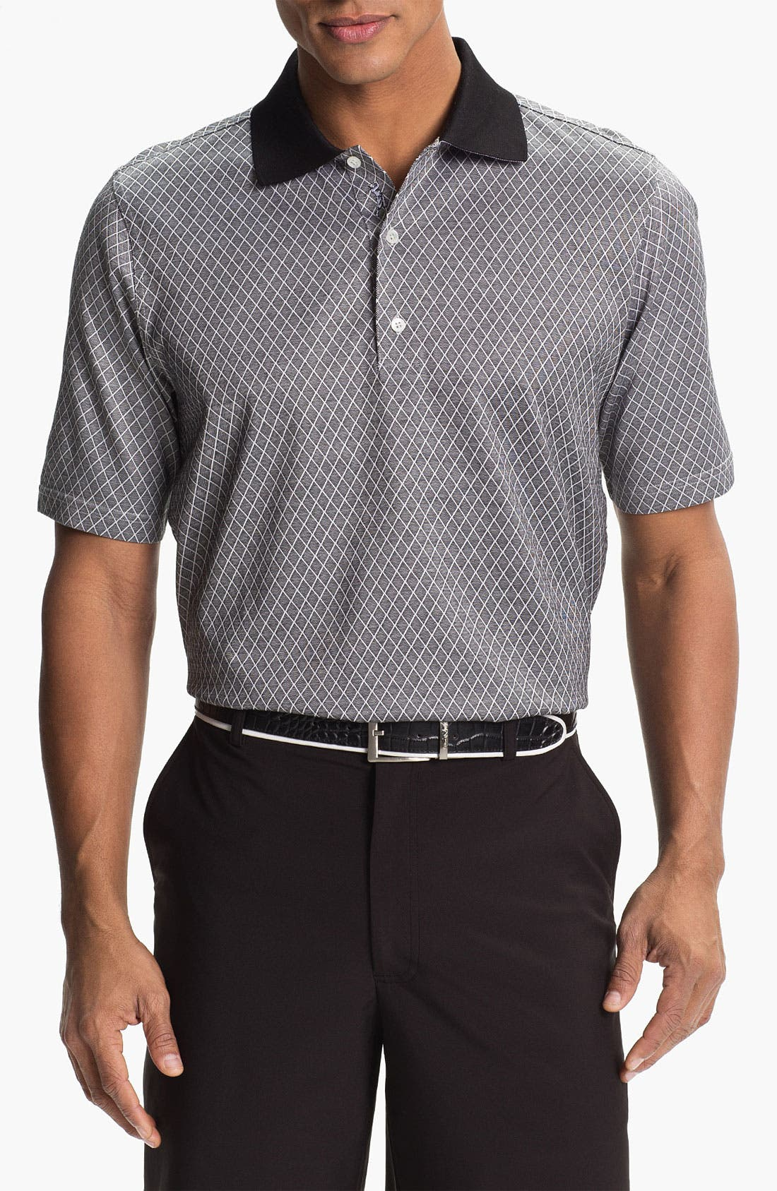Main Image - Bobby Jones Bird's Eye Jacquard Polo