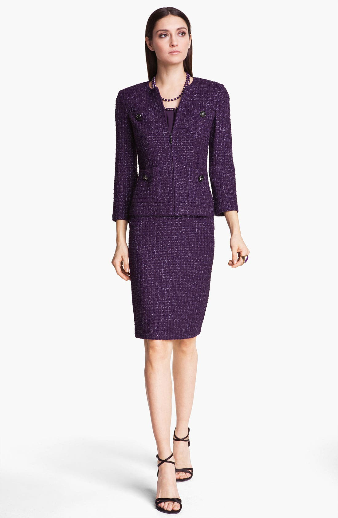 Alternate Image 2  - St. John Collection Shimmer Tweed Jacket