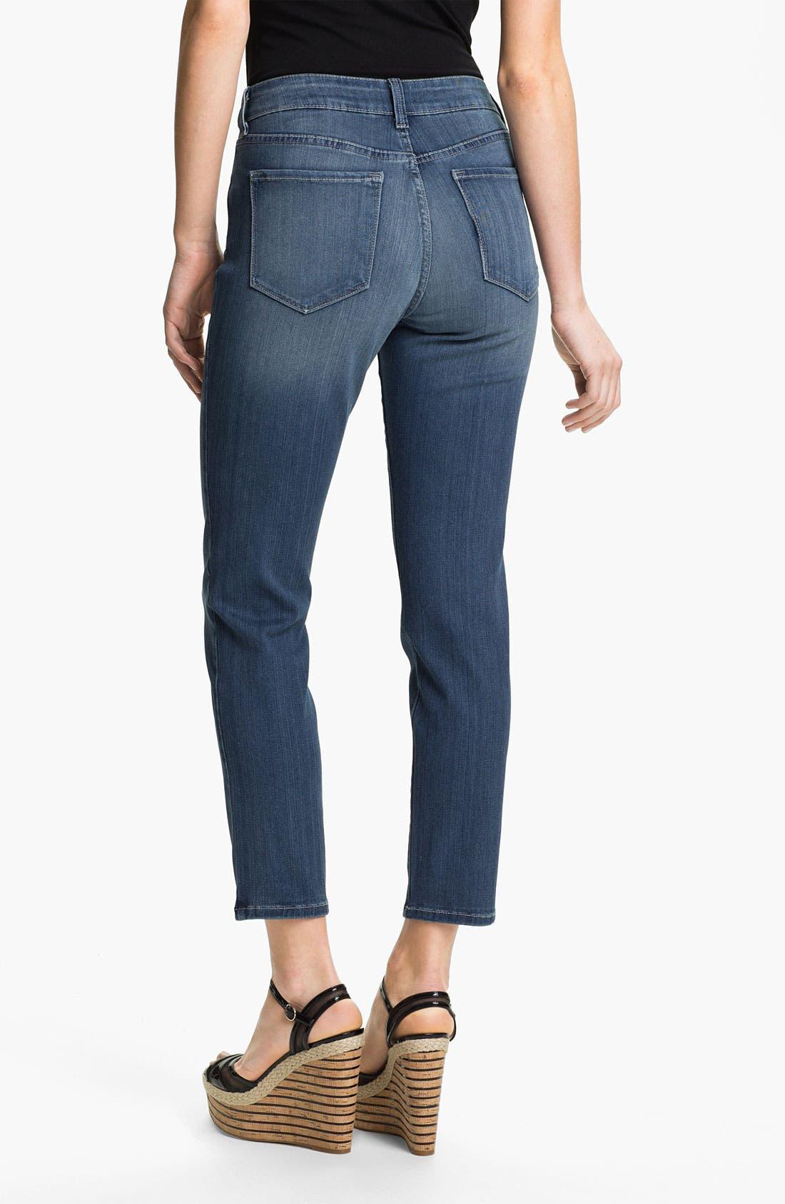Alternate Image 2  - NYDJ 'Alina' Stretch Skinny Jeans (Petite)