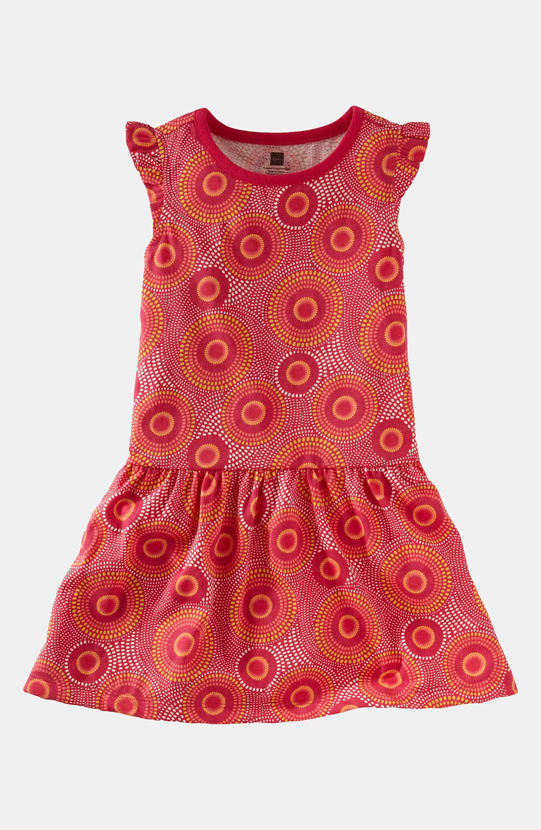 Alternate Image 1 Selected - Tea Collection 'Elm' Flutter Dress (Little Girls & Big Girls)
