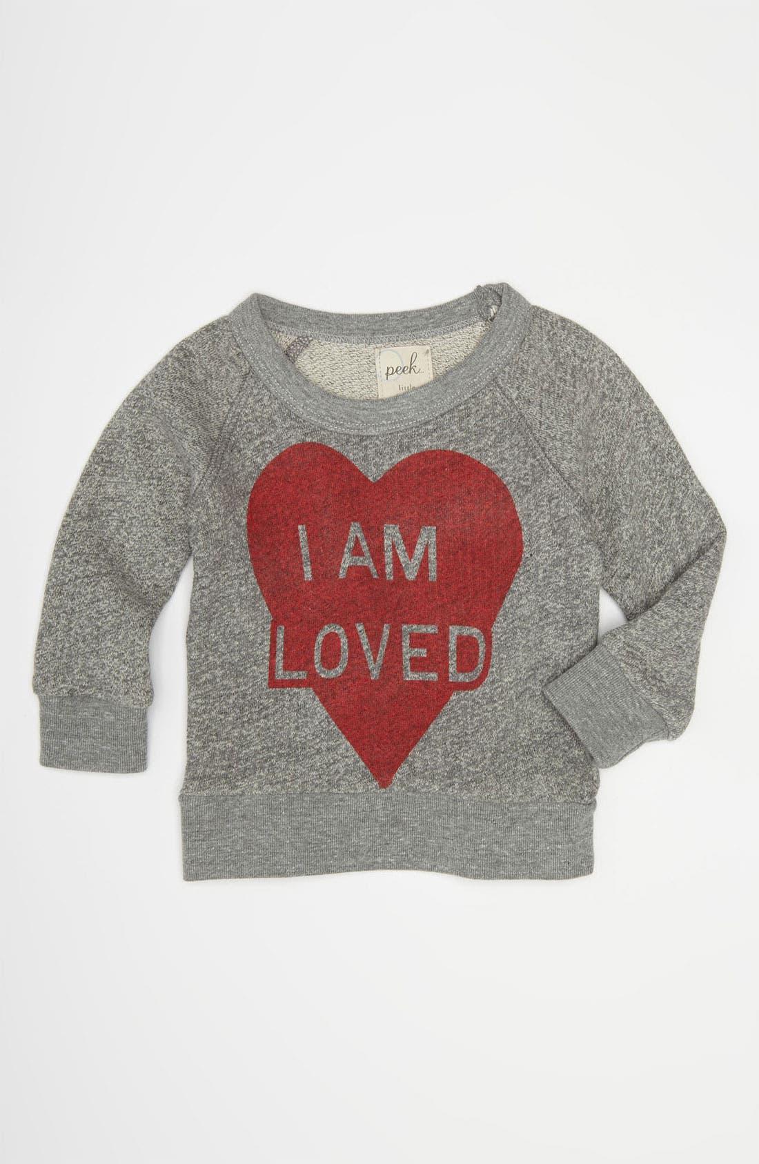 Alternate Image 1 Selected - Peek 'I Am Loved' Sweater (Infant)