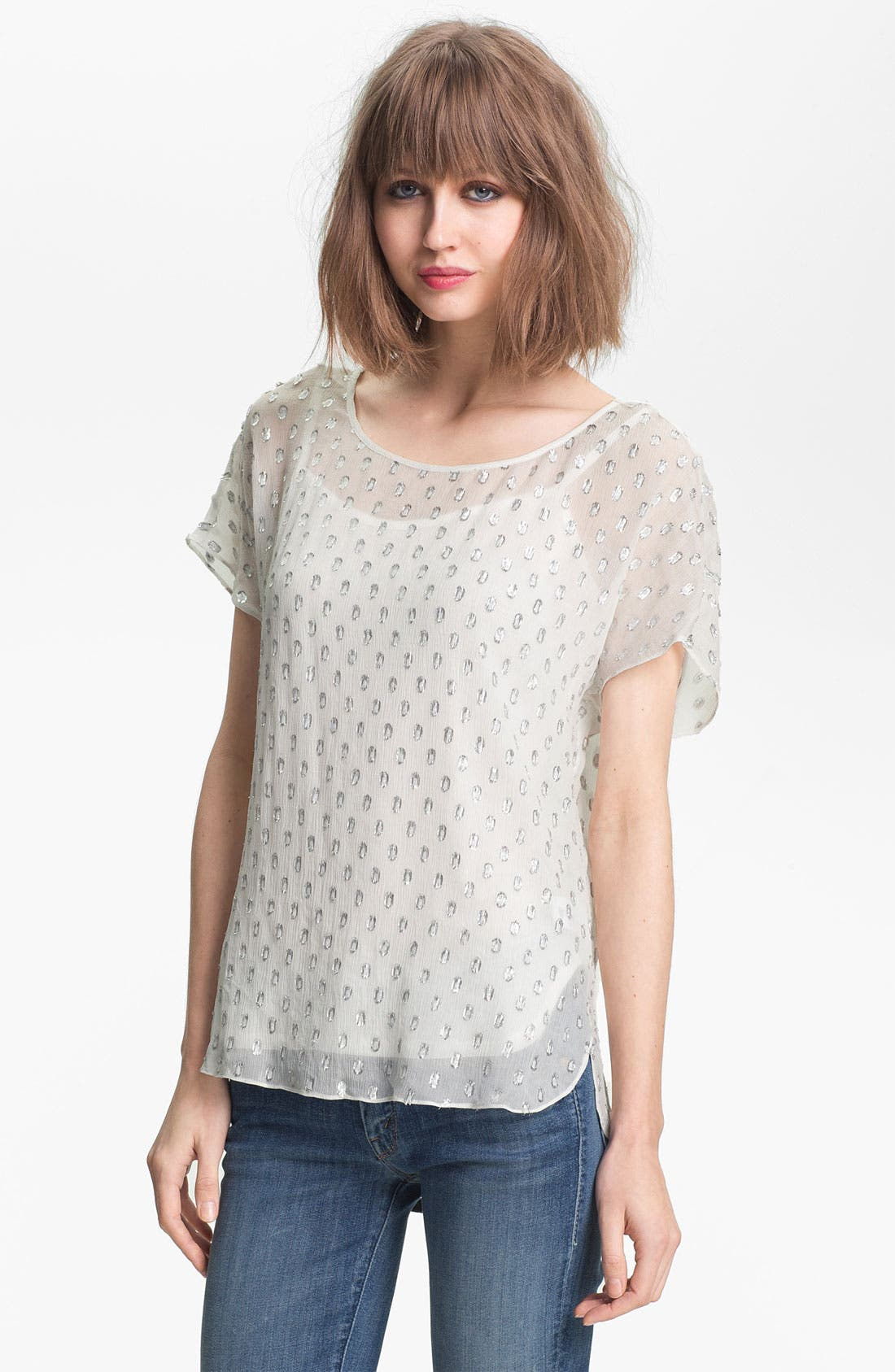Main Image - Ella Moss 'Lucie' Mirror Dot Top