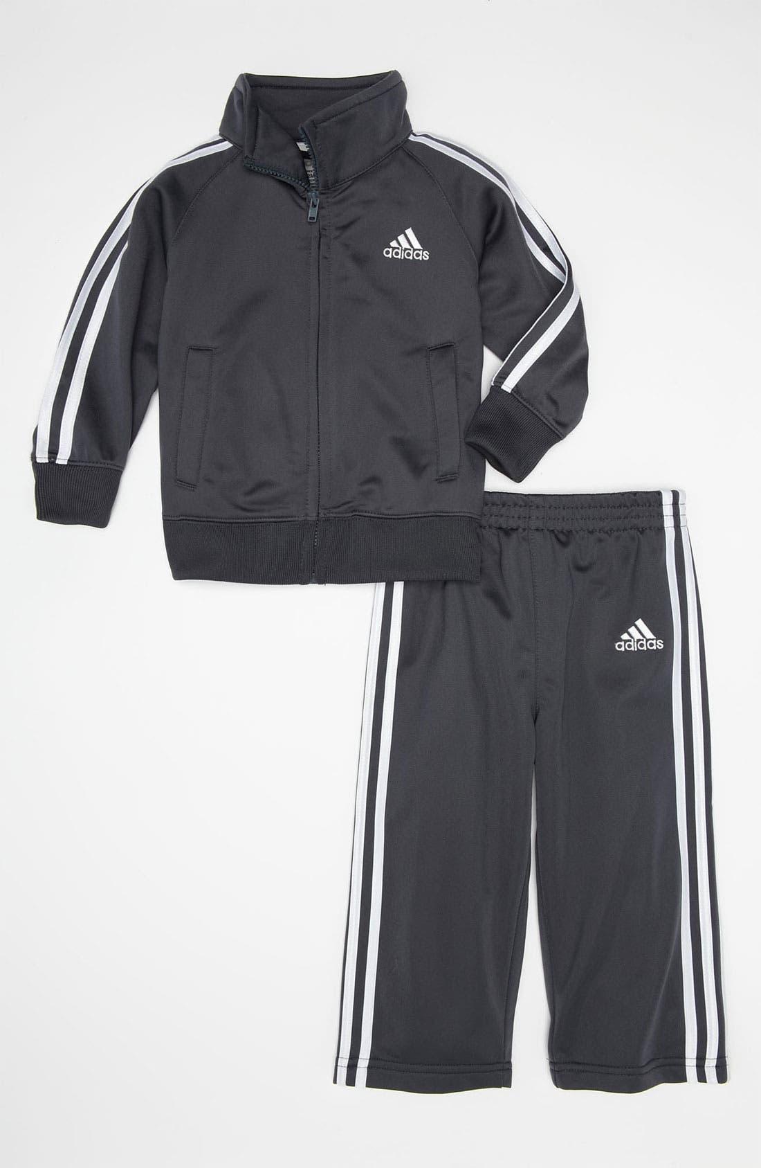 Main Image - adidas Tricot Jacket & Pants Set (Toddler)