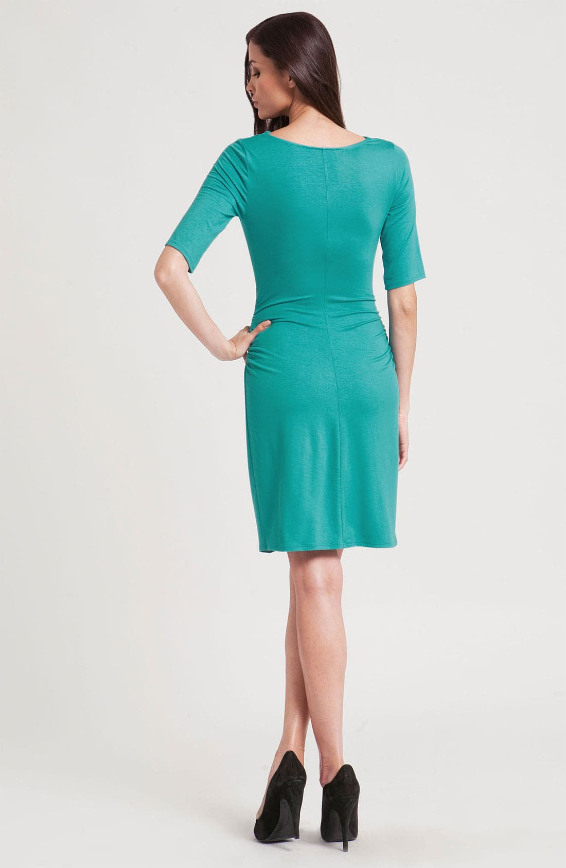 Alternate Image 2  - Three Dots Cowl Neck Jersey Sheath Dress