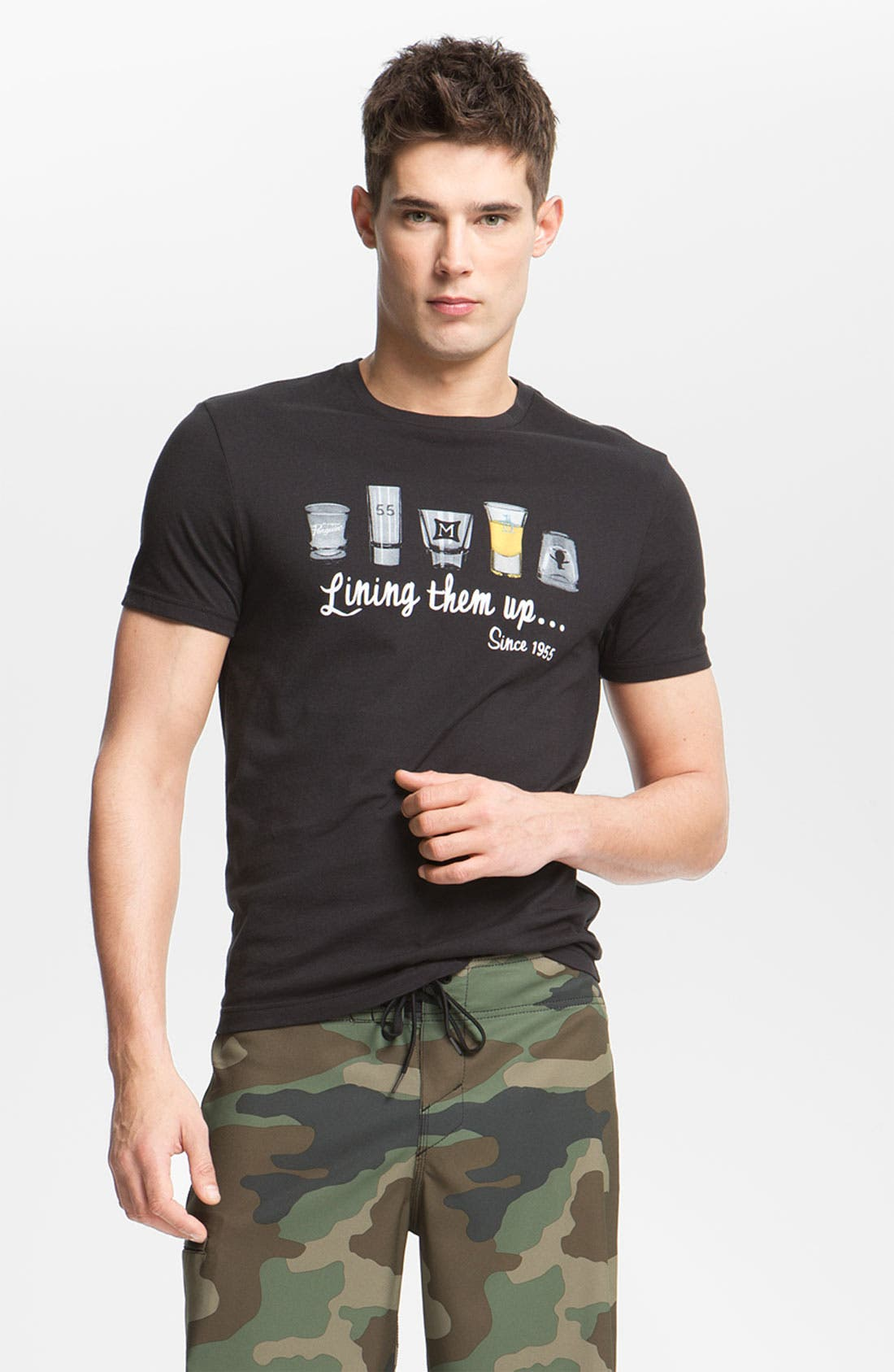 Main Image - Original Penguin 'Lining Them Up' Graphic T-Shirt