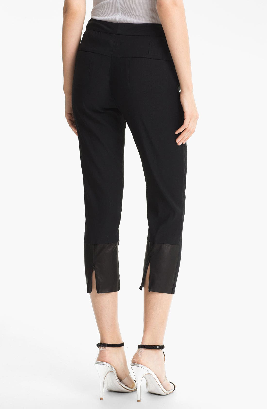 Alternate Image 2  - Tracy Reese Stretch Linen Crop Pants