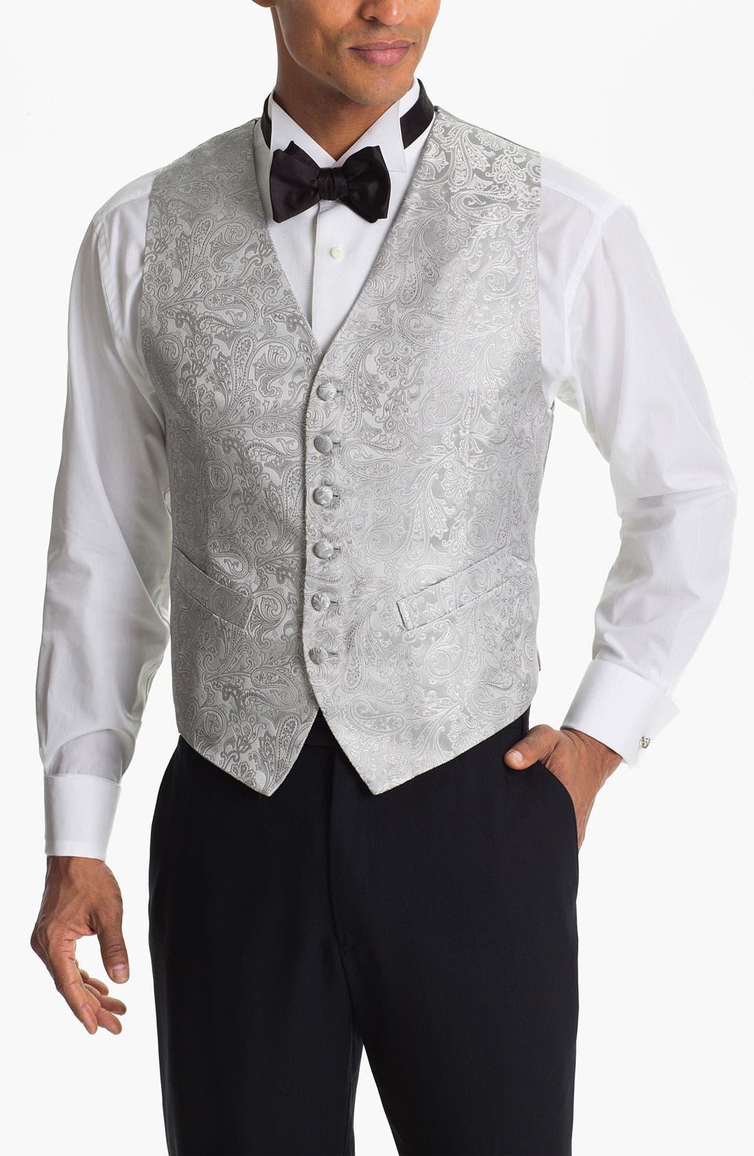 Alternate Image 1 Selected - David Donahue Paisley Silk Vest