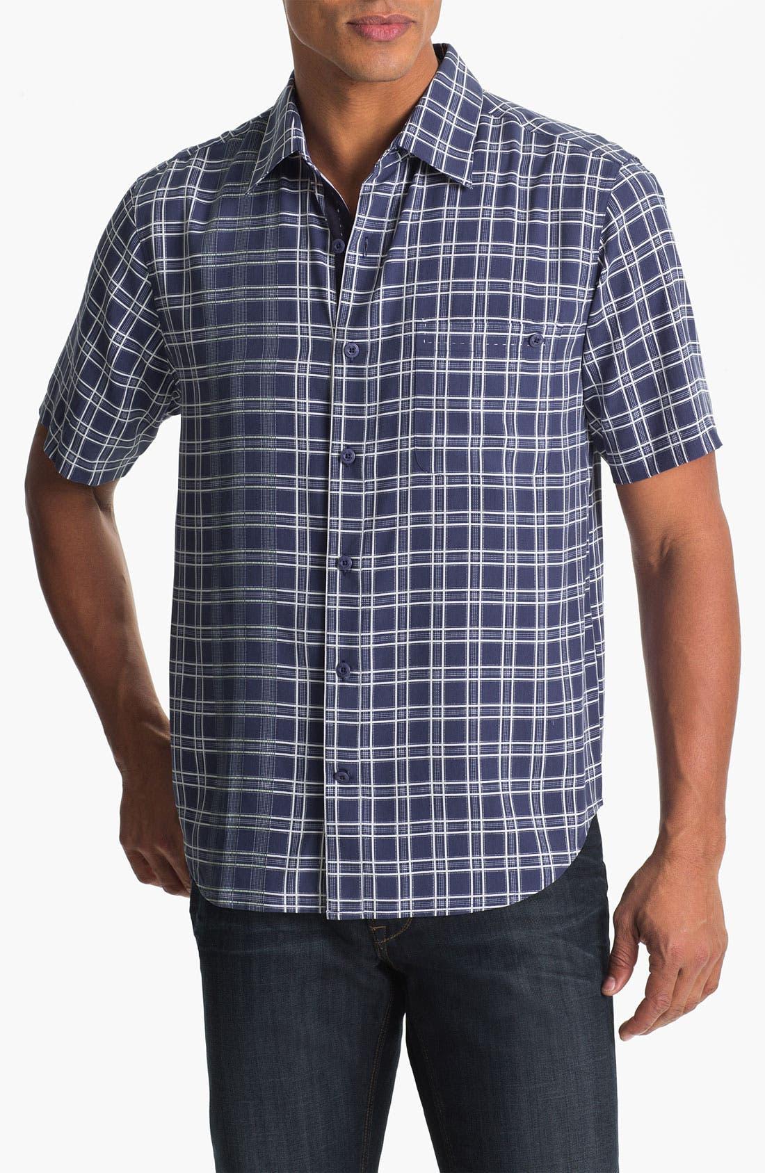 Main Image - Nat Nast 'Check Please' Silk Regular Fit Sport Shirt