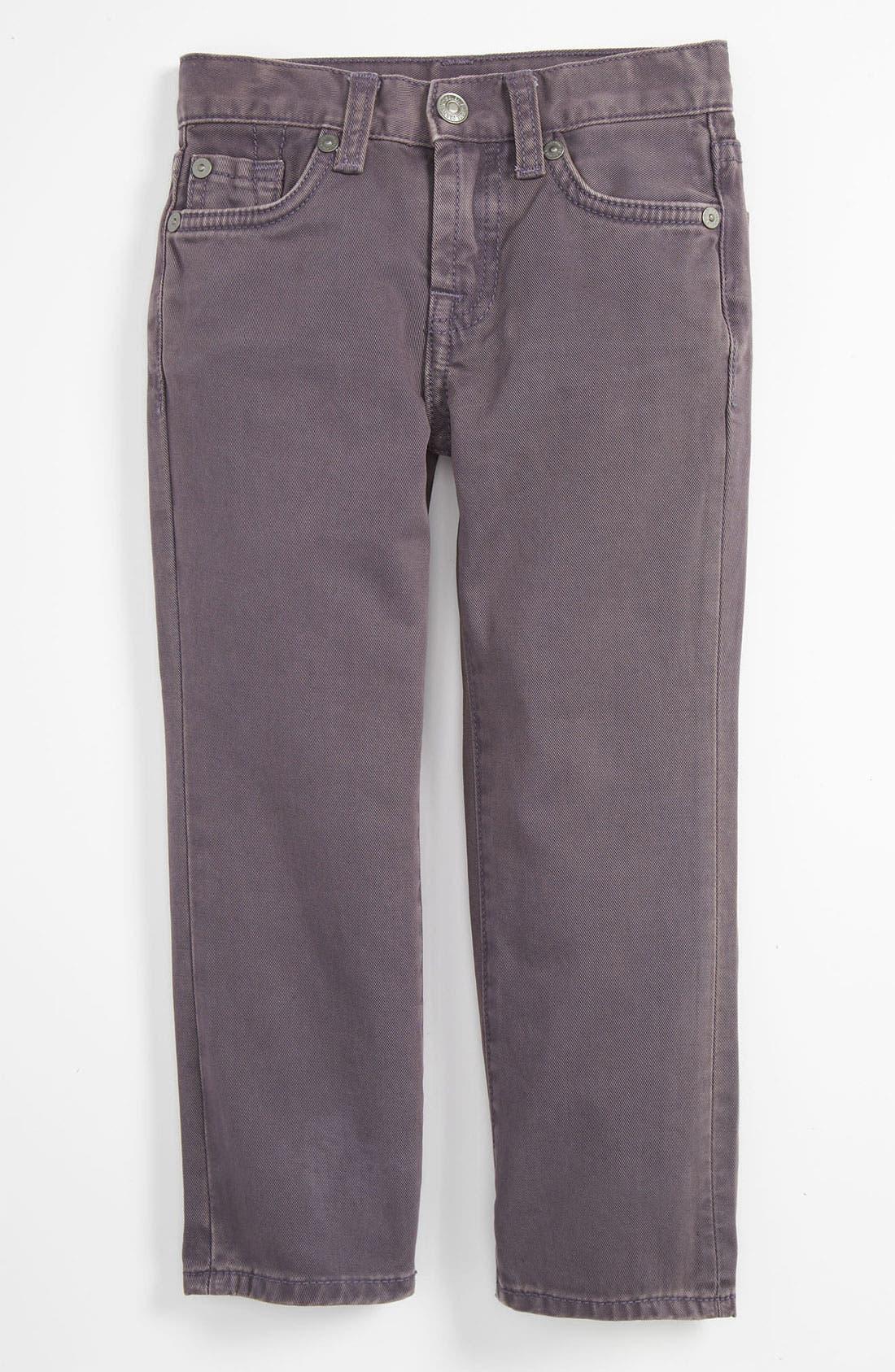 Alternate Image 2  - 7 For All Mankind® 'Standard' Straight Leg Jeans (Toddler)