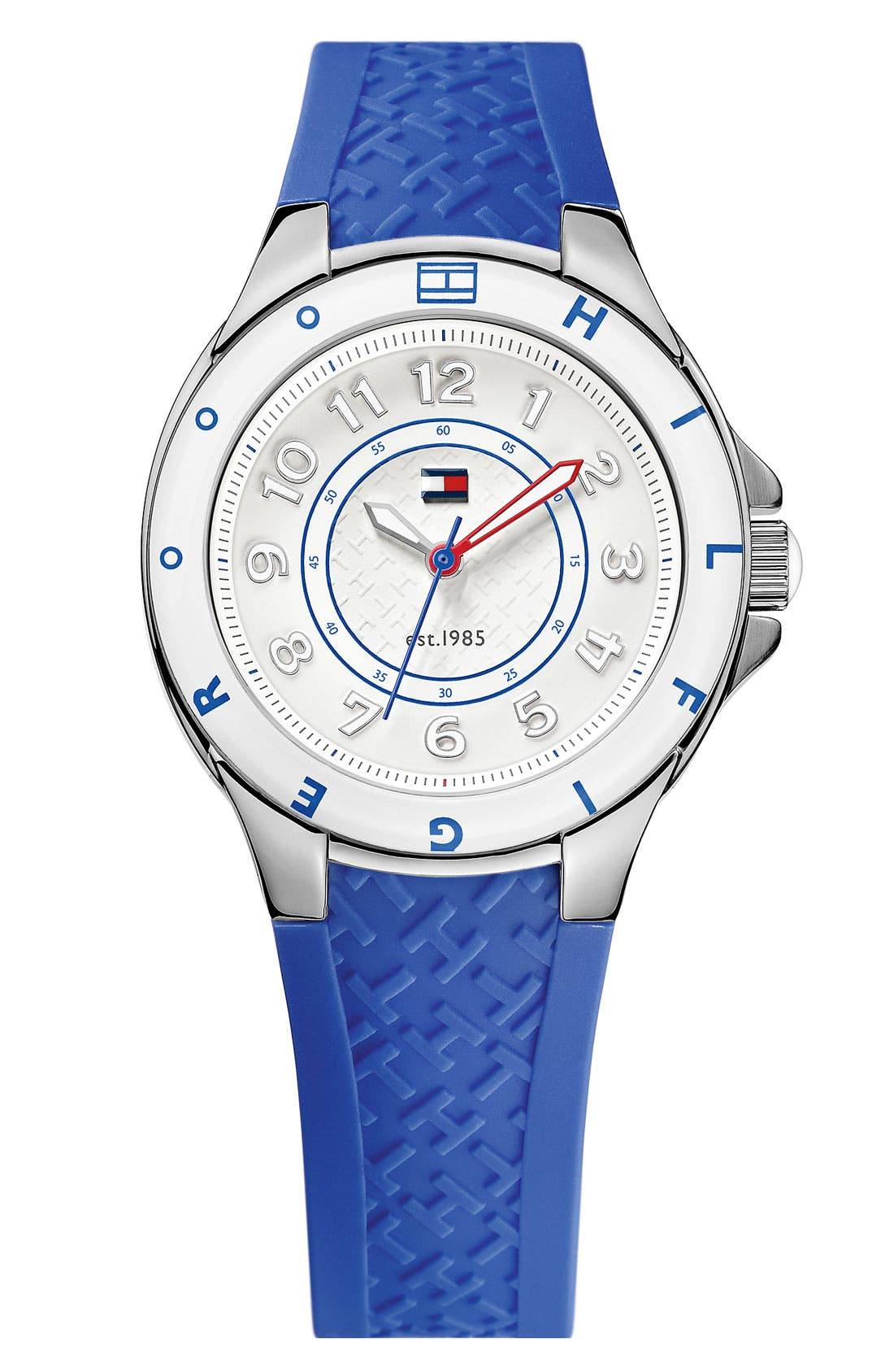Main Image - Tommy Hilfiger Round Silicone Strap Watch, 34mm