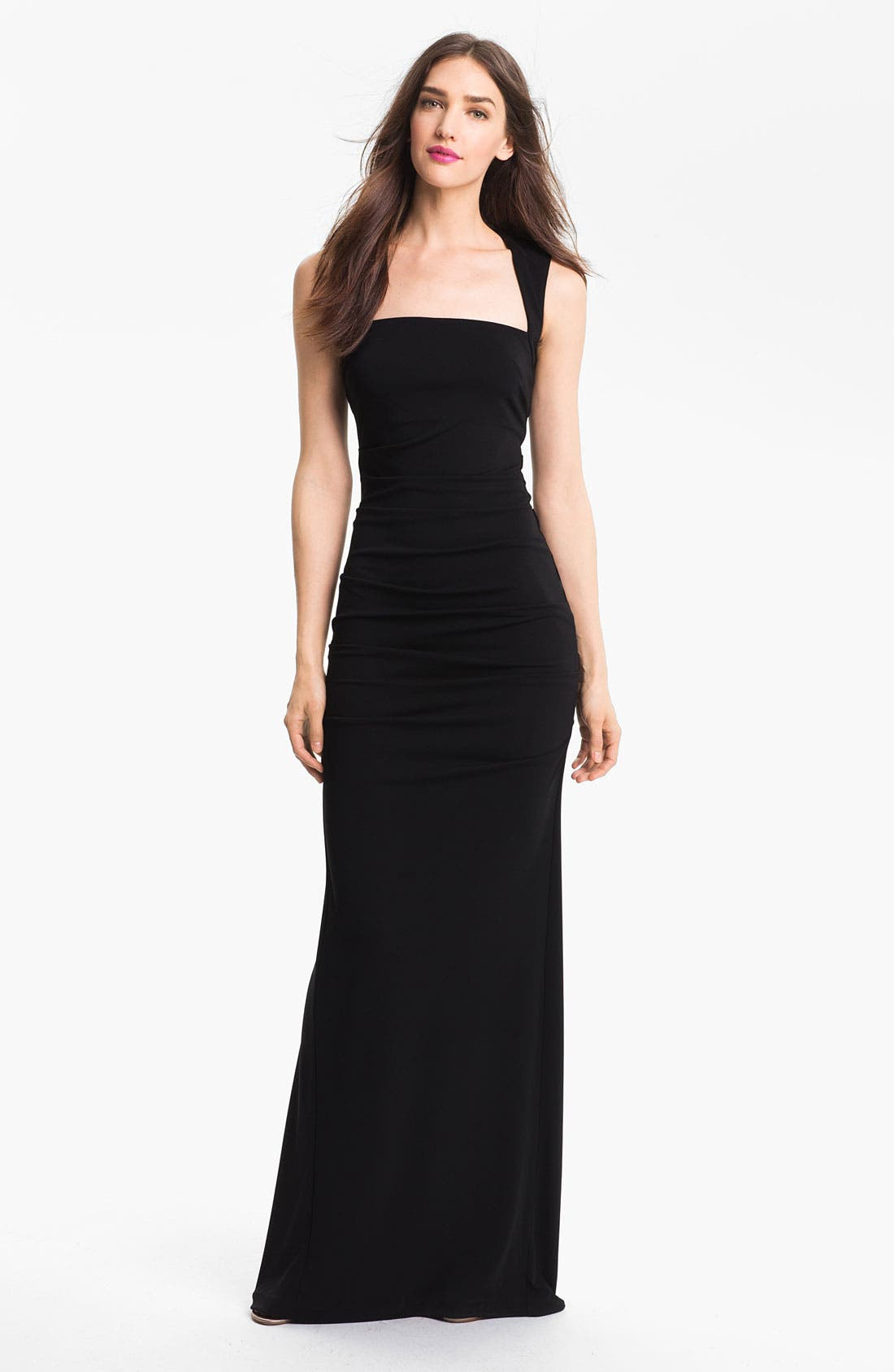 Alternate Image 1 Selected - Nicole Miller Ruched Matte Jersey Gown