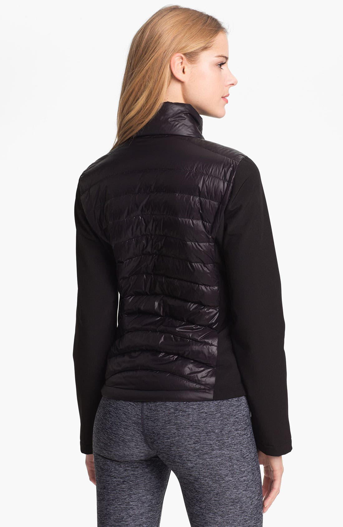 Alternate Image 2  - Calvin Klein Mixed Media Down Jacket