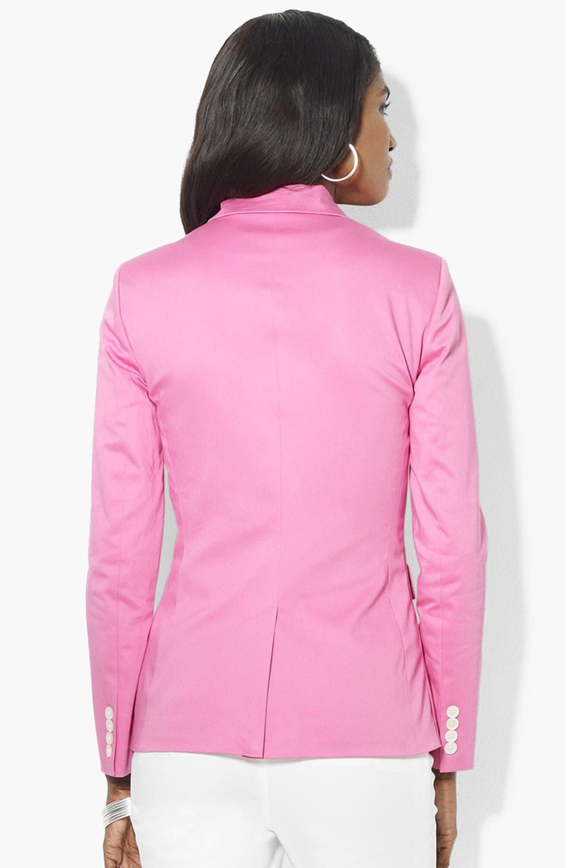 Alternate Image 2  - Lauren Ralph Lauren Logo Pocket Jacket