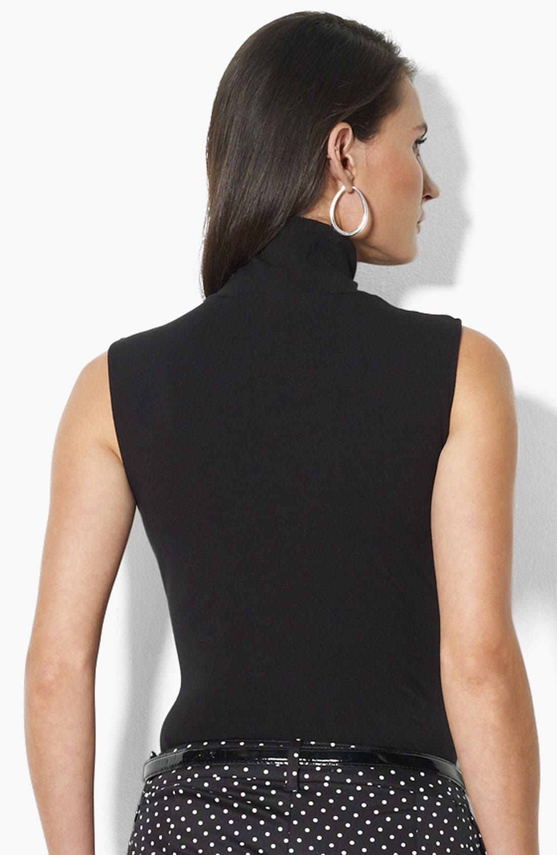 Alternate Image 2  - Lauren Ralph Lauren Mock Neck Sleeveless Top