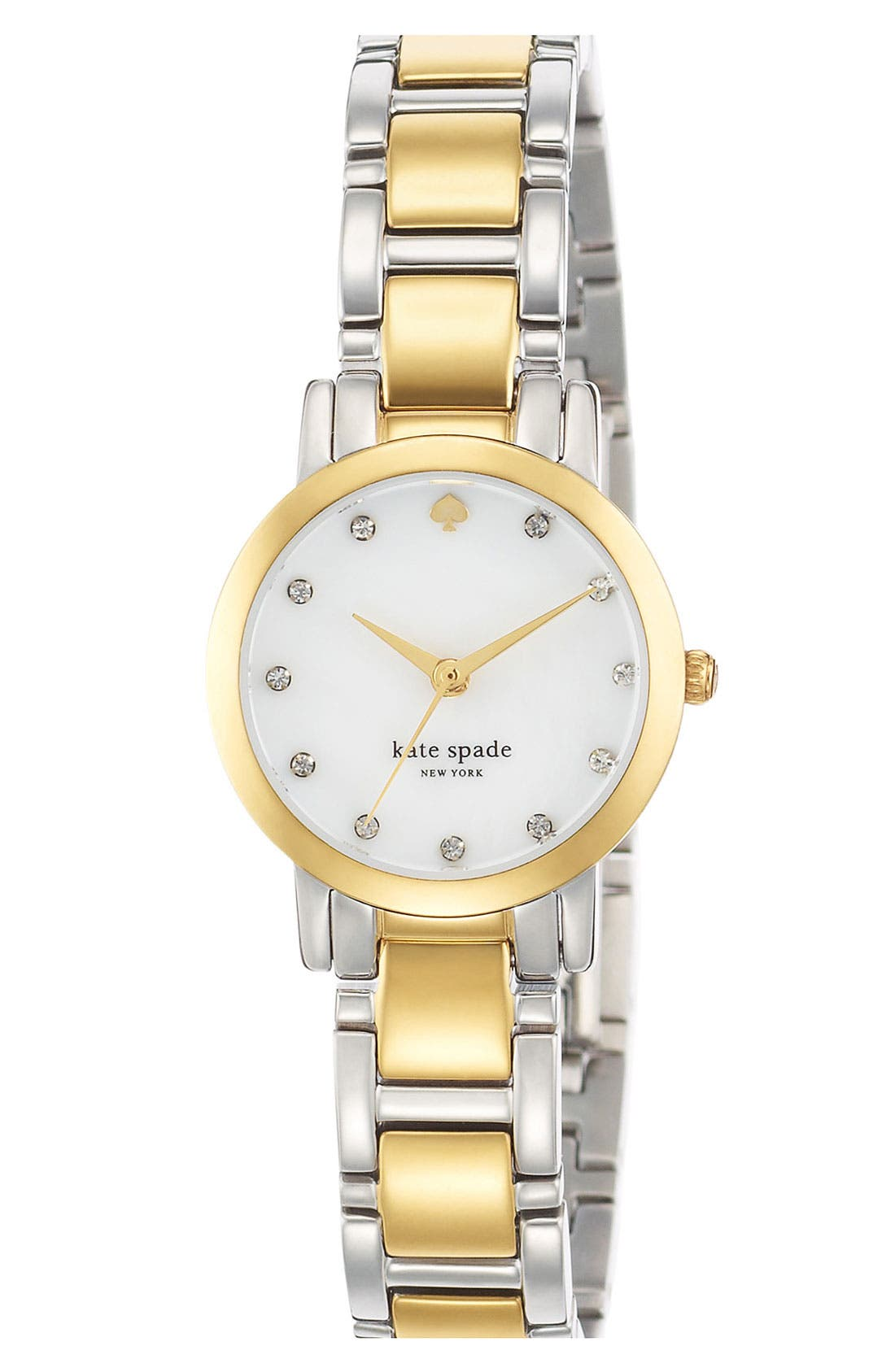 Alternate Image 5  - kate spade new york 'gramercy mini' crystal index watch, 24mm