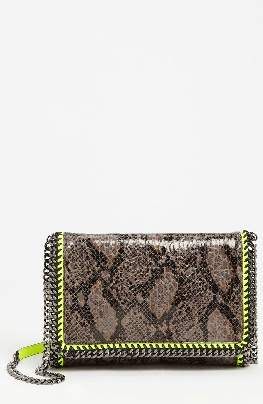 Main Image - Stella McCartney 'Falabella' Faux Python Crossbody Bag