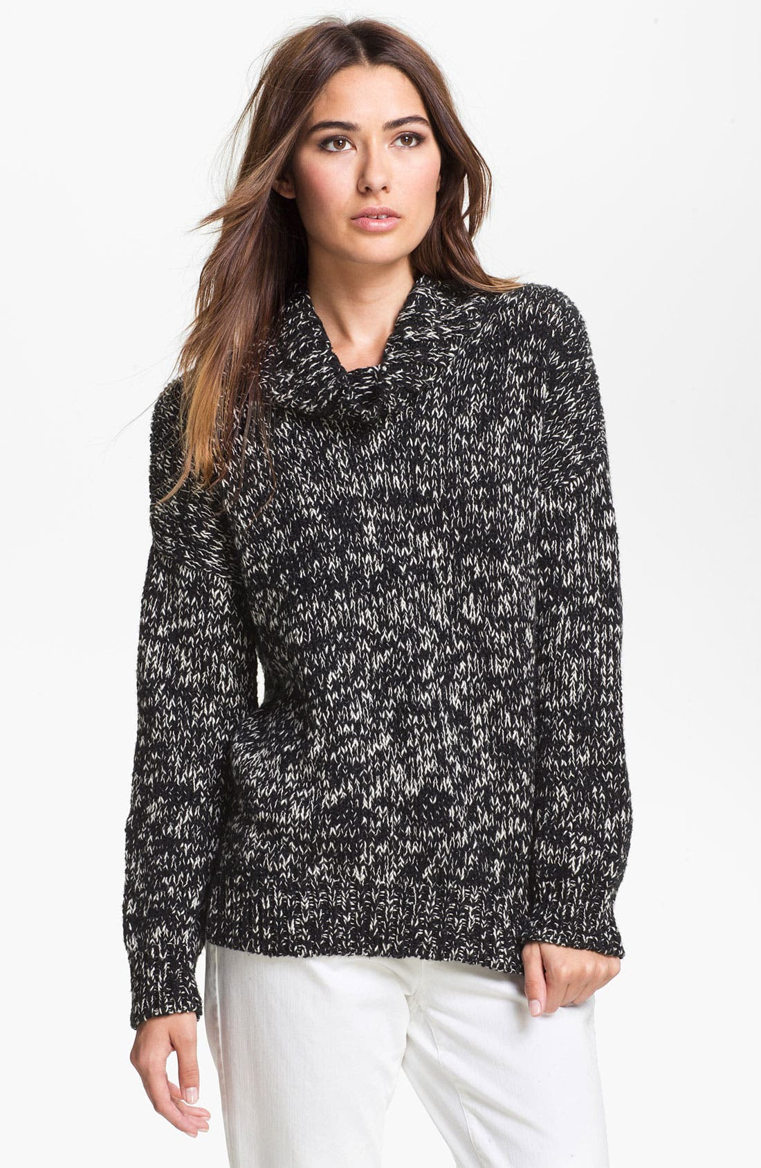 Alternate Image 1 Selected - Eileen Fisher Mock Neck Sweater (Online Exclusive)