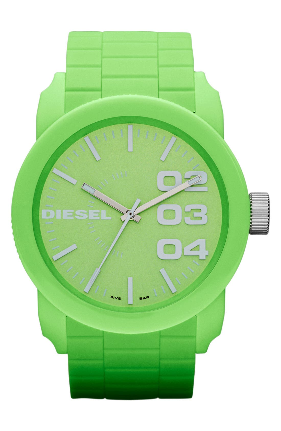 Main Image - DIESEL® 'Franchise' Silicone Strap Watch, 44mm