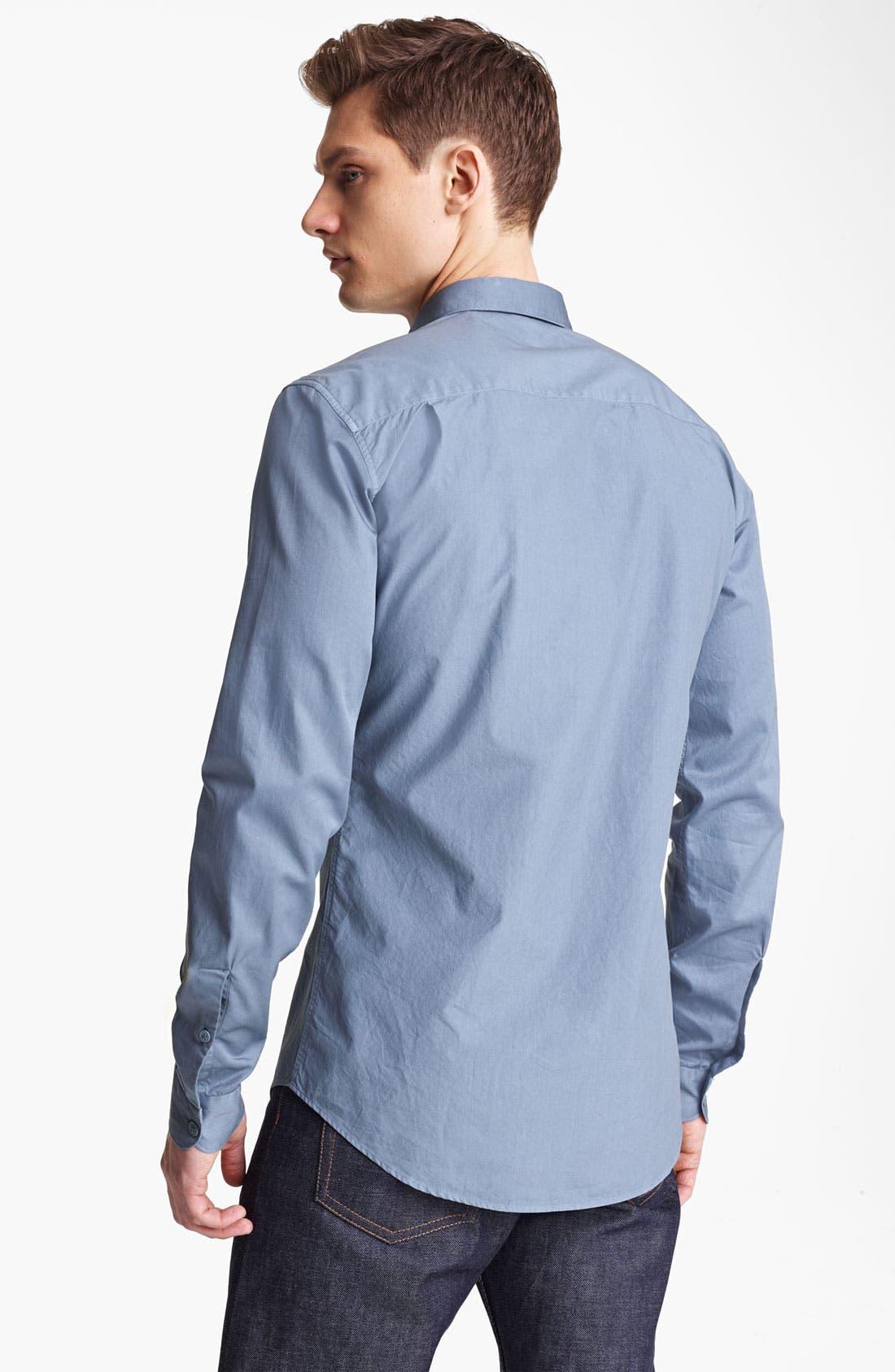 Alternate Image 2  - Z Zegna Garment Dyed Woven Shirt