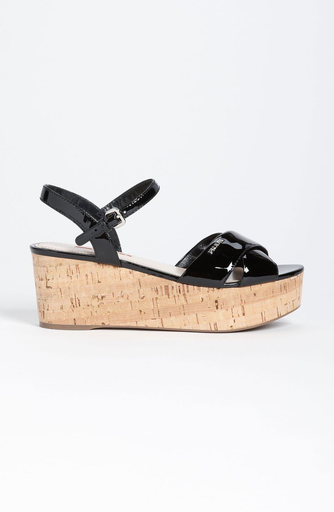 Alternate Image 4  - Prada Wedge Sandal