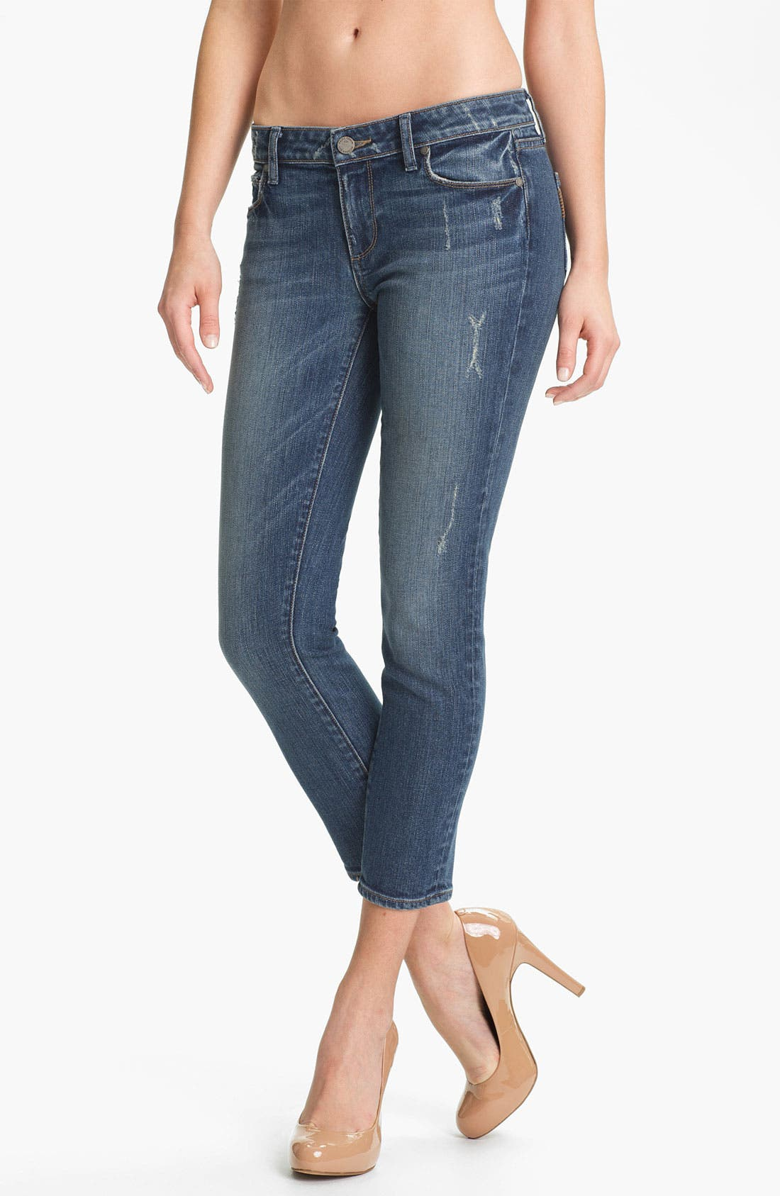 Alternate Image 1 Selected - Paige Denim 'Kylie' Crop Skinny Jeans (Beachwood)