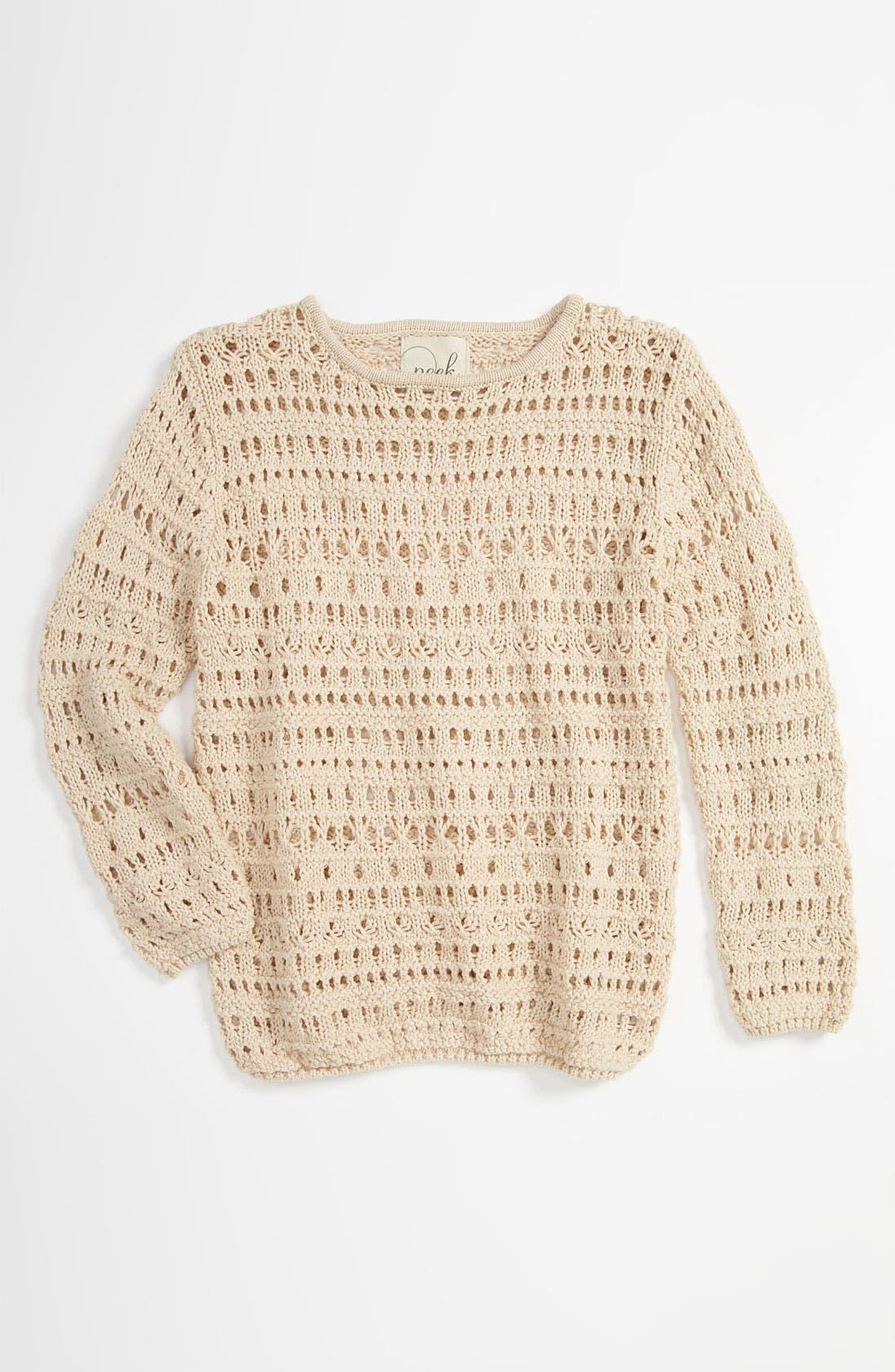 Main Image - Peek 'Flax' Sweater (Toddler, Little Girls & Big Girls)