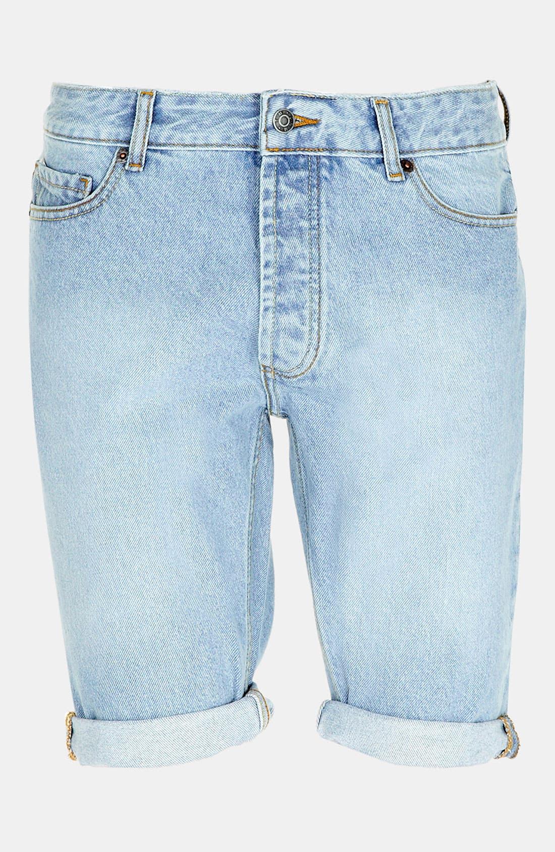 Alternate Image 1 Selected - Topman Skinny Fit Denim Shorts