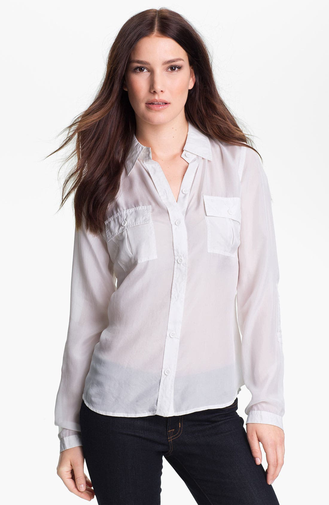Alternate Image 1 Selected - Go by go Silk Safari Shirt
