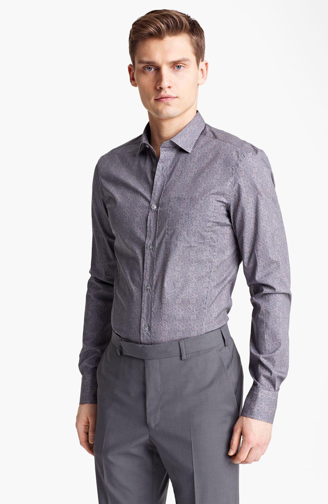 Main Image - Z Zegna Textured Print Dress Shirt