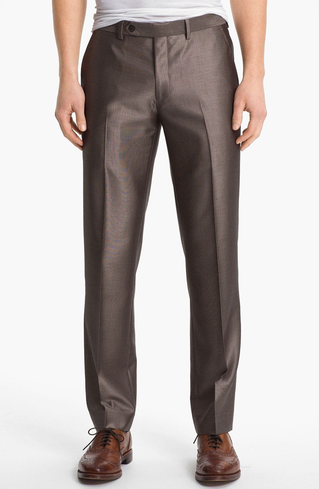 Alternate Image 1 Selected - John Varvatos Star USA Red Label Flat Front Trousers