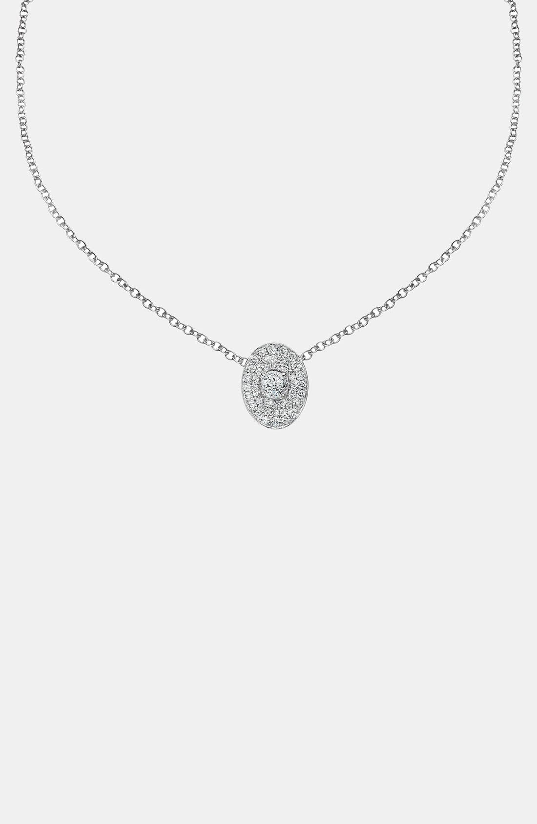 Main Image - Ivanka Trump 'Signature' Oval Pavé Diamond Pendant Necklace
