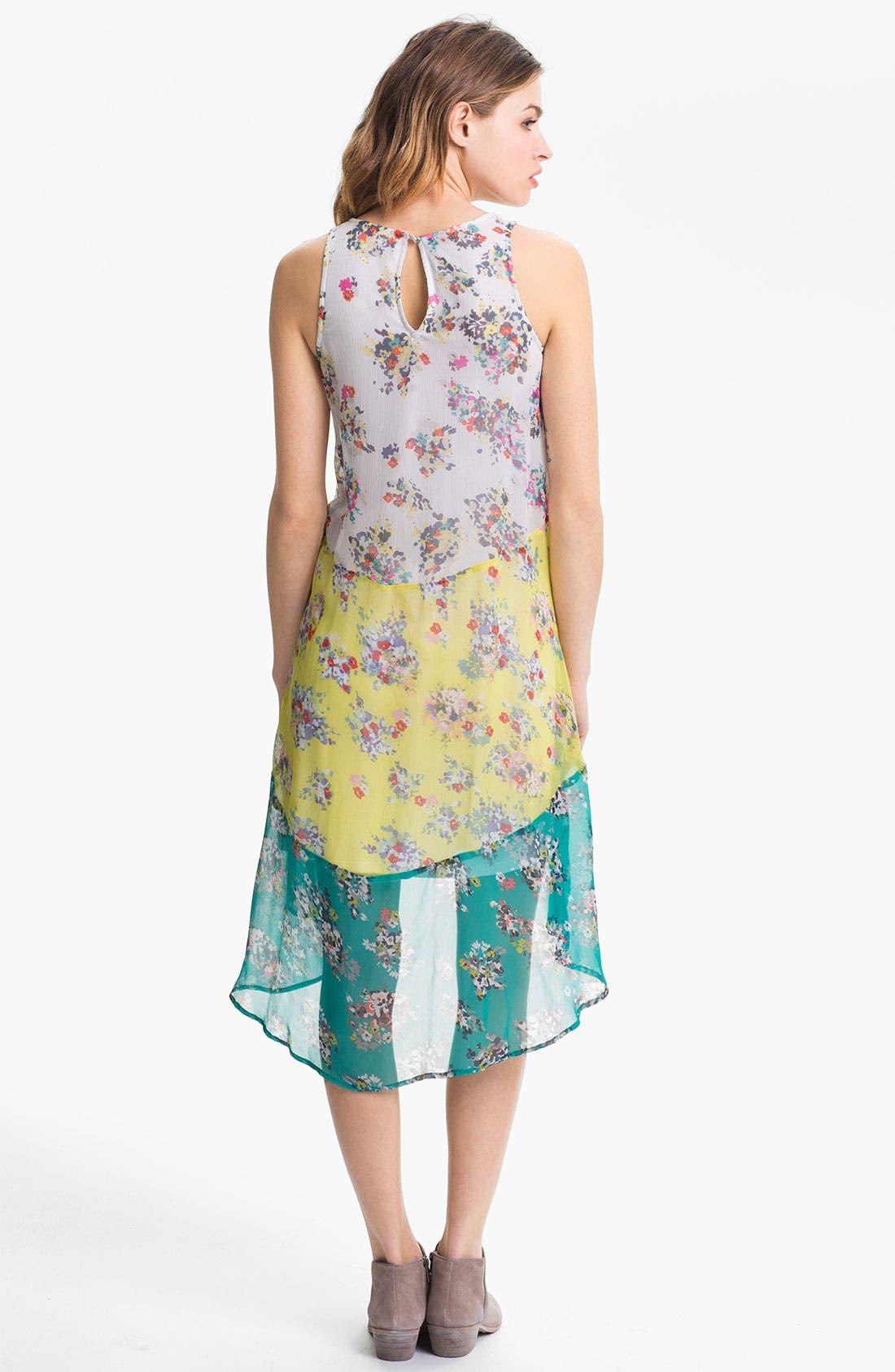Alternate Image 2  - Ella Moss 'Citrus' Mixed Print Tiered Chiffon Dress