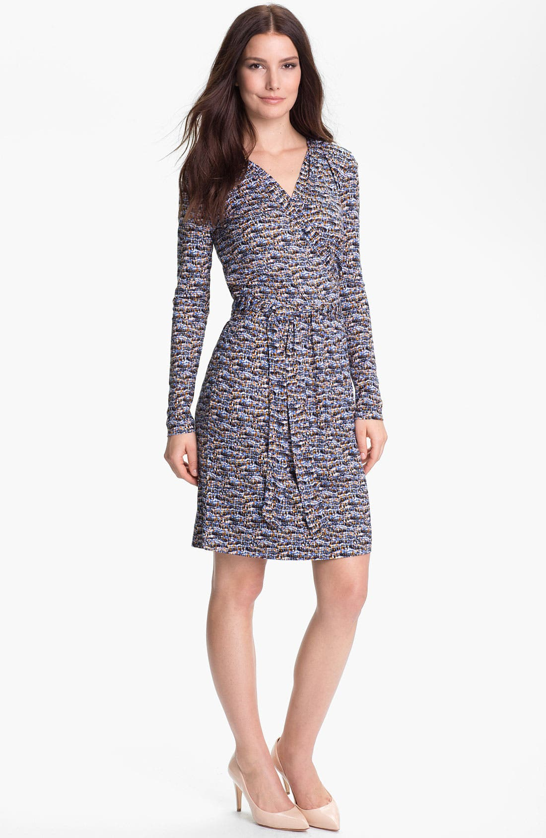 Alternate Image 1  - BOSS Black Faux Wrap Dress