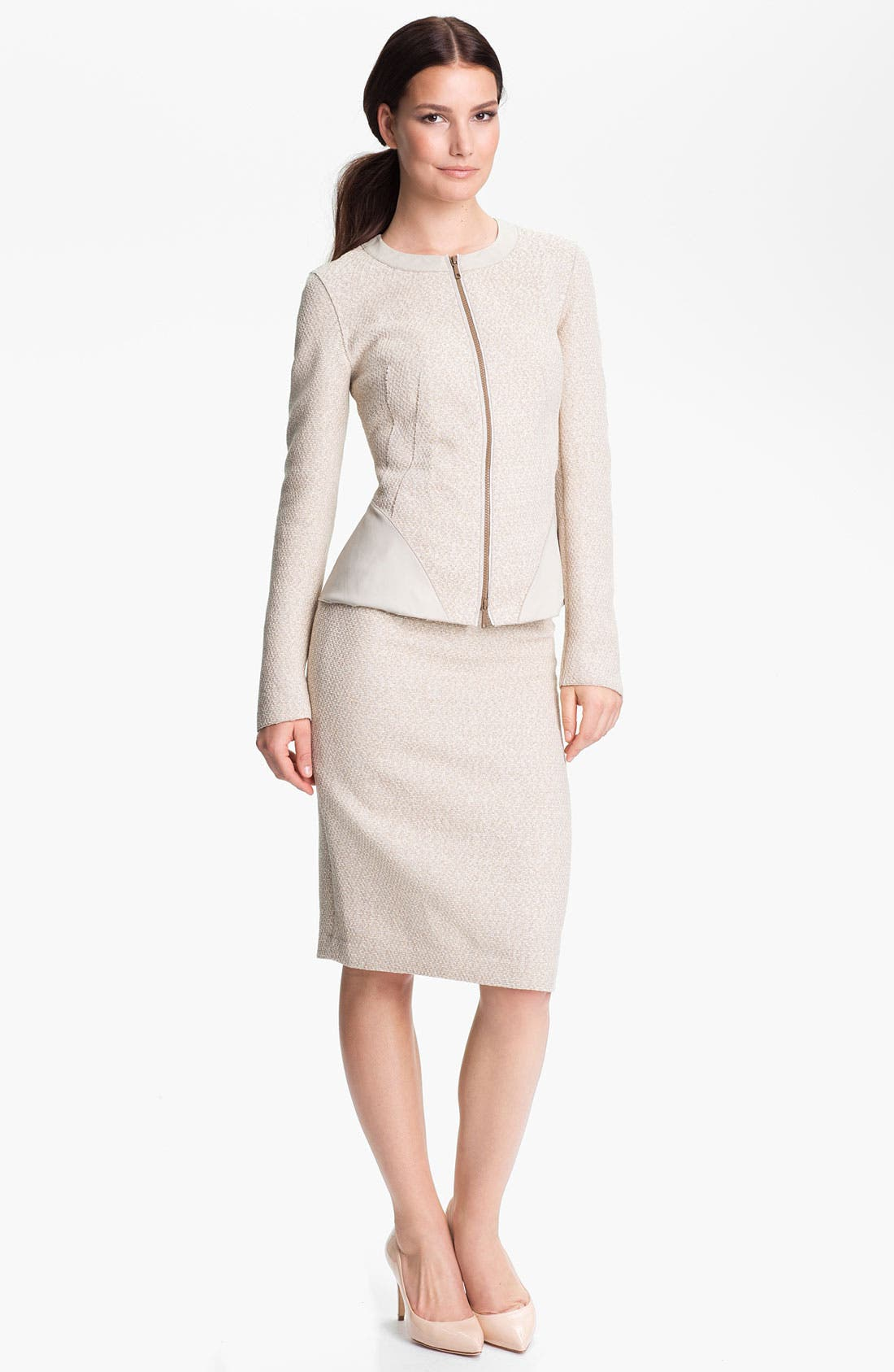 Alternate Image 4  - Lafayette 148 New York 'Brittany - Sandalwood' Jacket