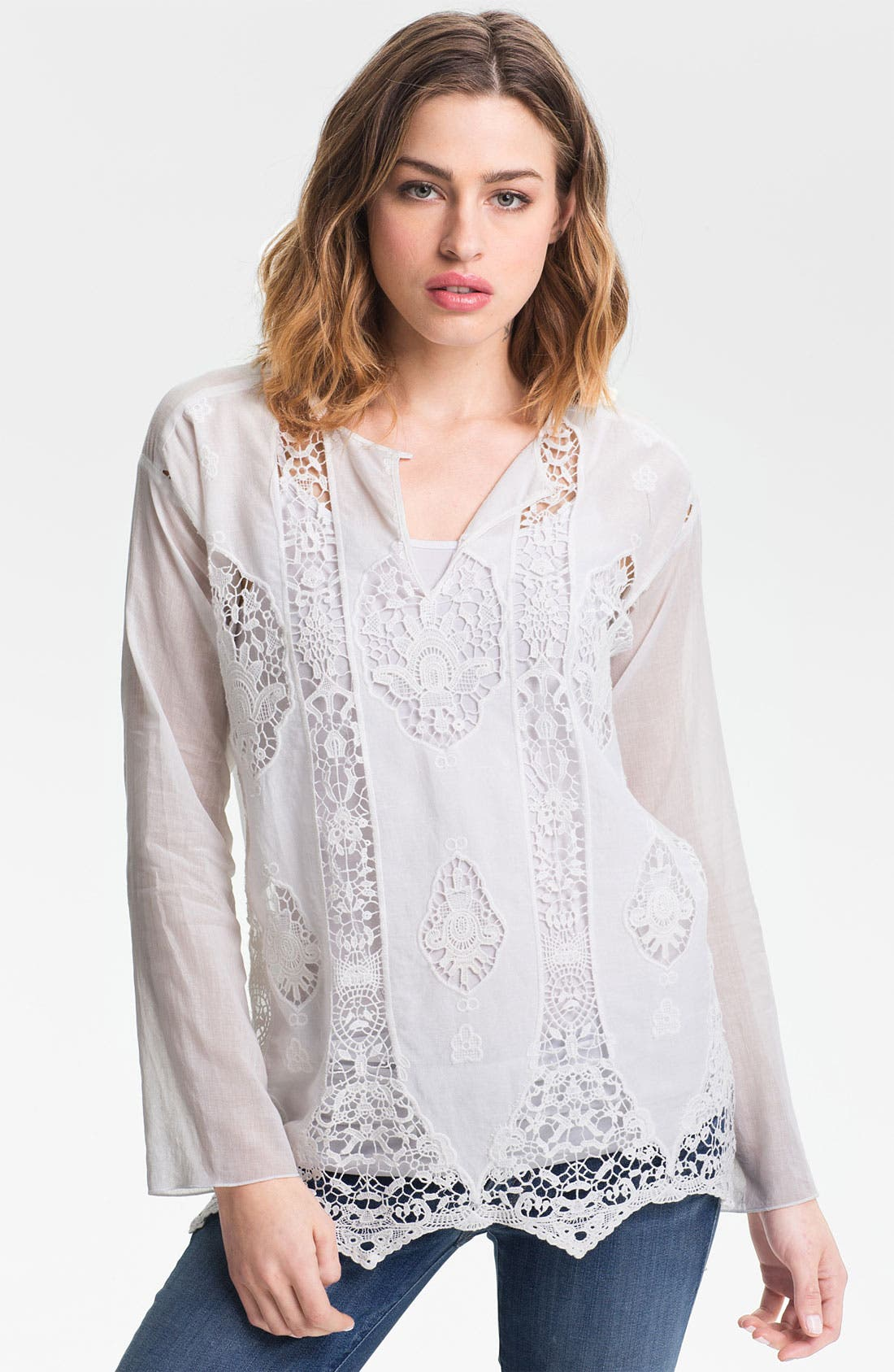 Alternate Image 1 Selected - Bailey 44 'Tapa' Vintage Lace Peasant Top