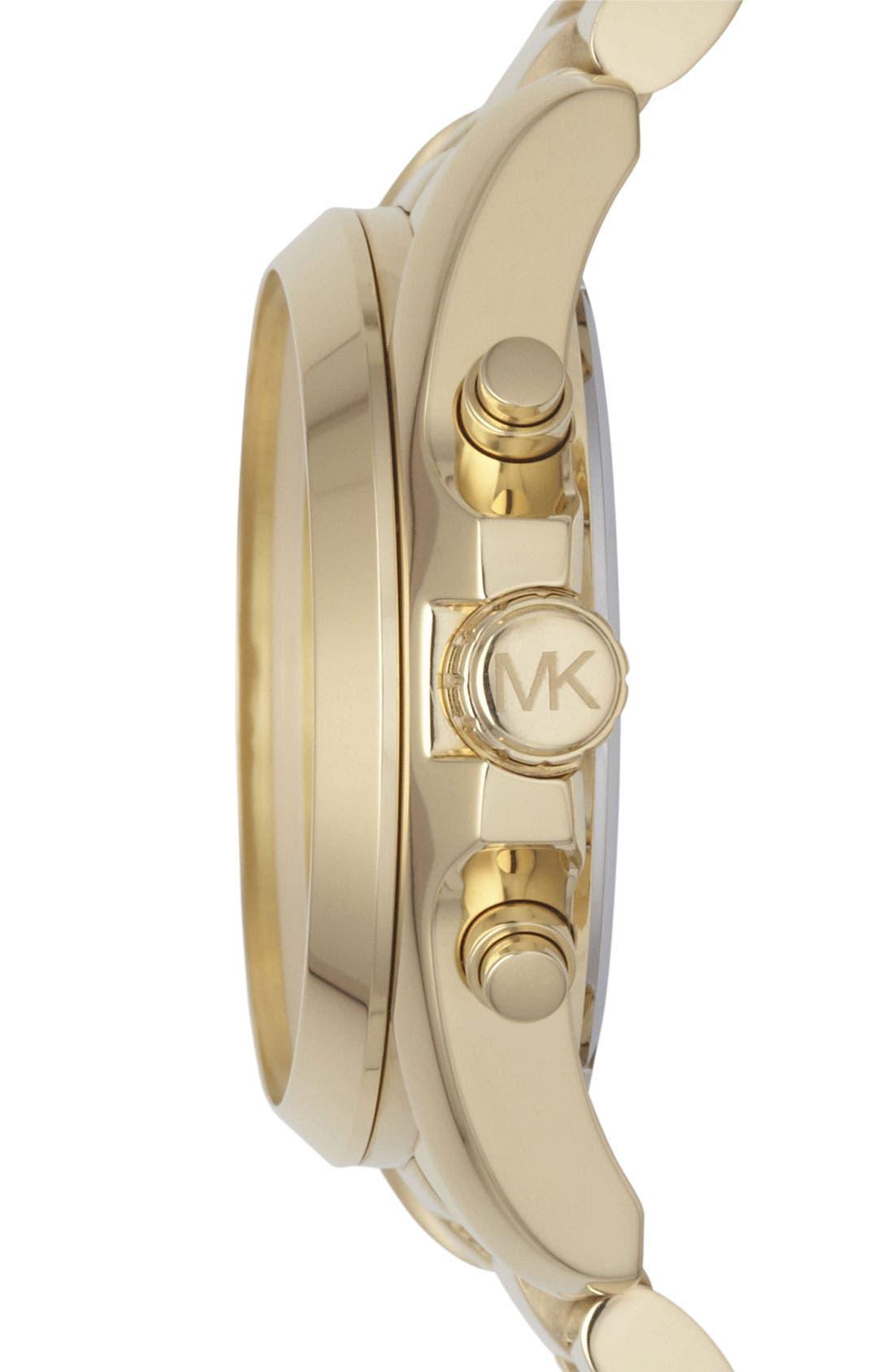 Alternate Image 3  - Michael Kors 'Bradshaw' Chronograph Bracelet Watch, 43mm