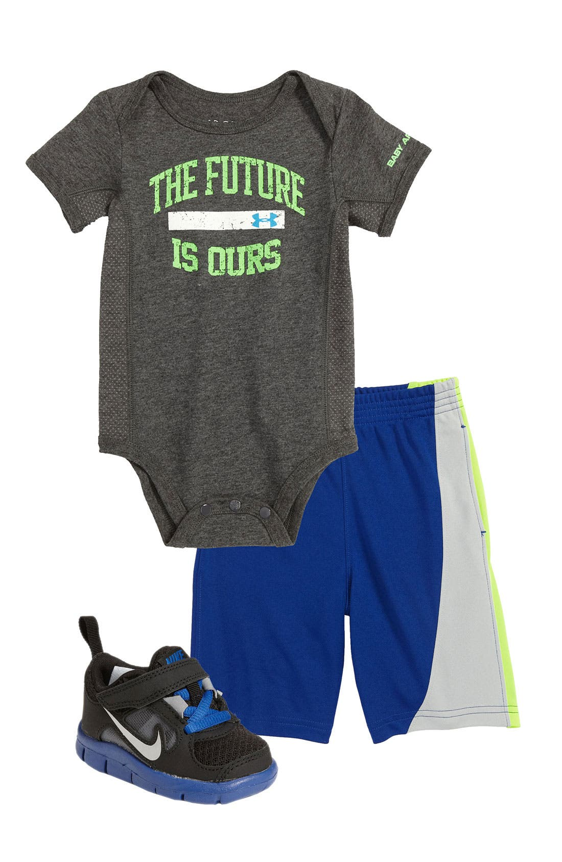 Alternate Image 2  - Under Armour 'Future Is Ours' Bodysuit (Infant)