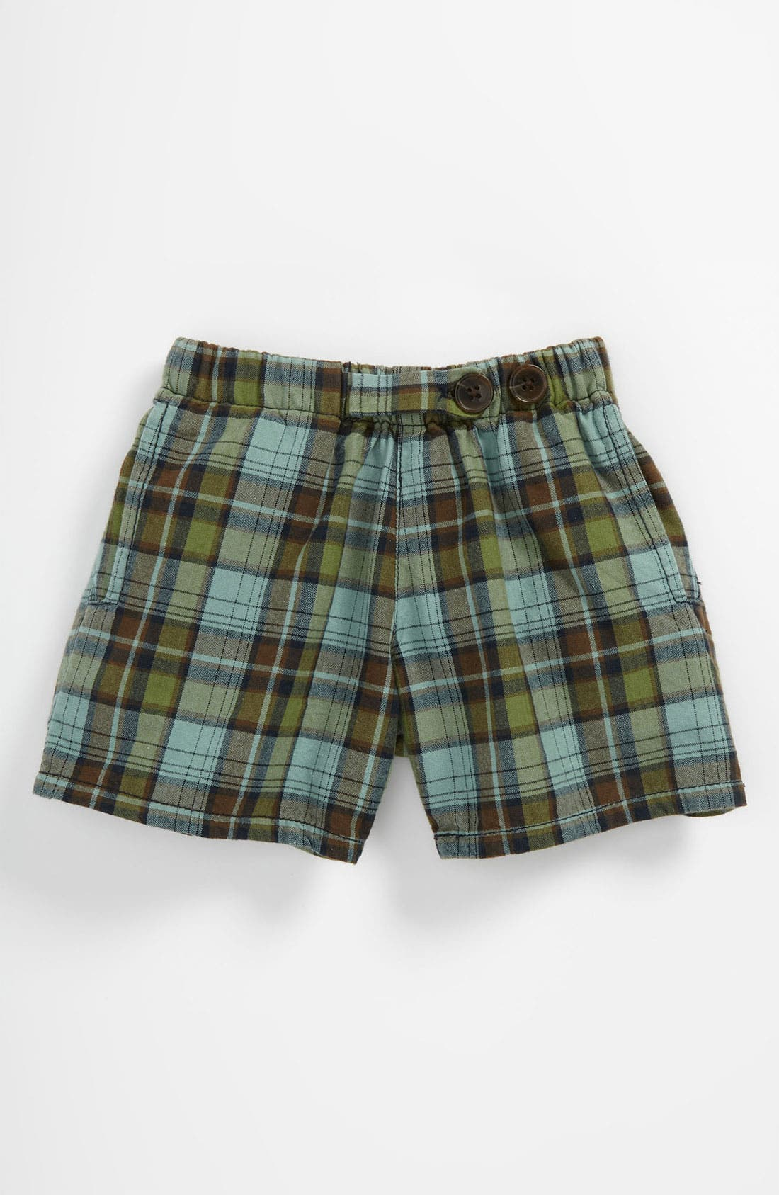 Alternate Image 1 Selected - Peek 'Bangalore - Havasu Plaid' Shorts (Baby)