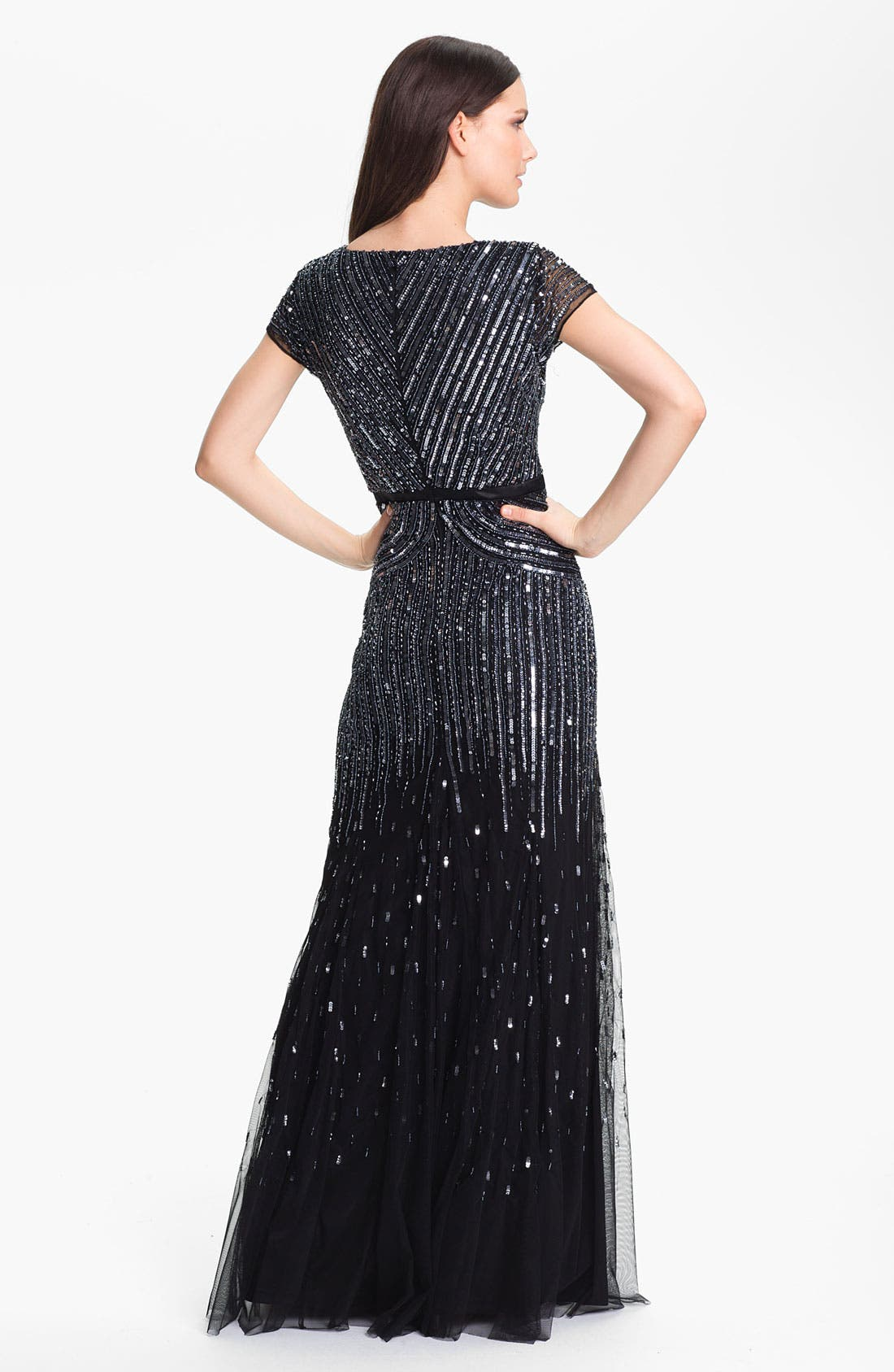 Alternate Image 2  - Adrianna Papell Sequin Mesh Gown