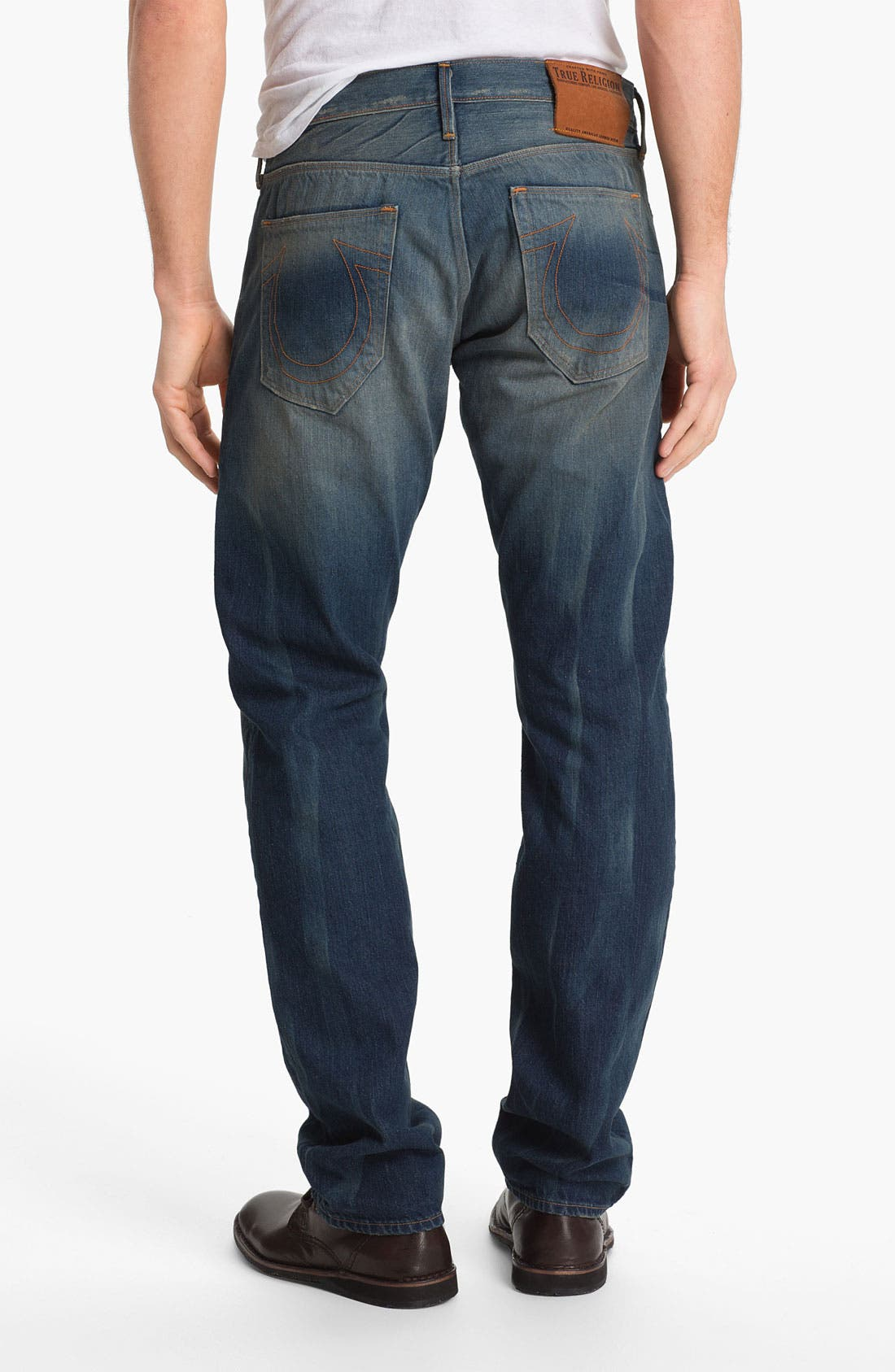 Alternate Image 1 Selected - True Religion Brand Jeans 'Geno 50s' Slim Straight Leg Jeans (Deadwood)