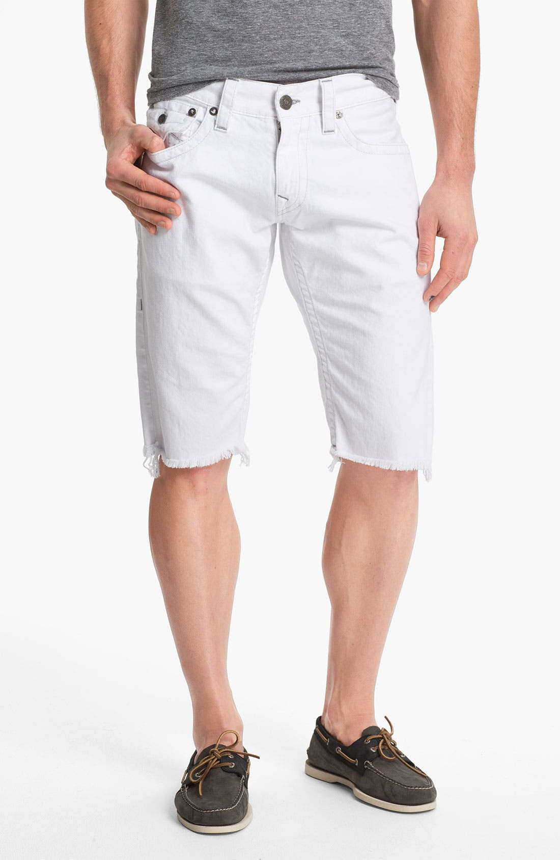 Alternate Image 2  - True Religion Brand Jeans 'Ricky' Cutoff Denim Shorts