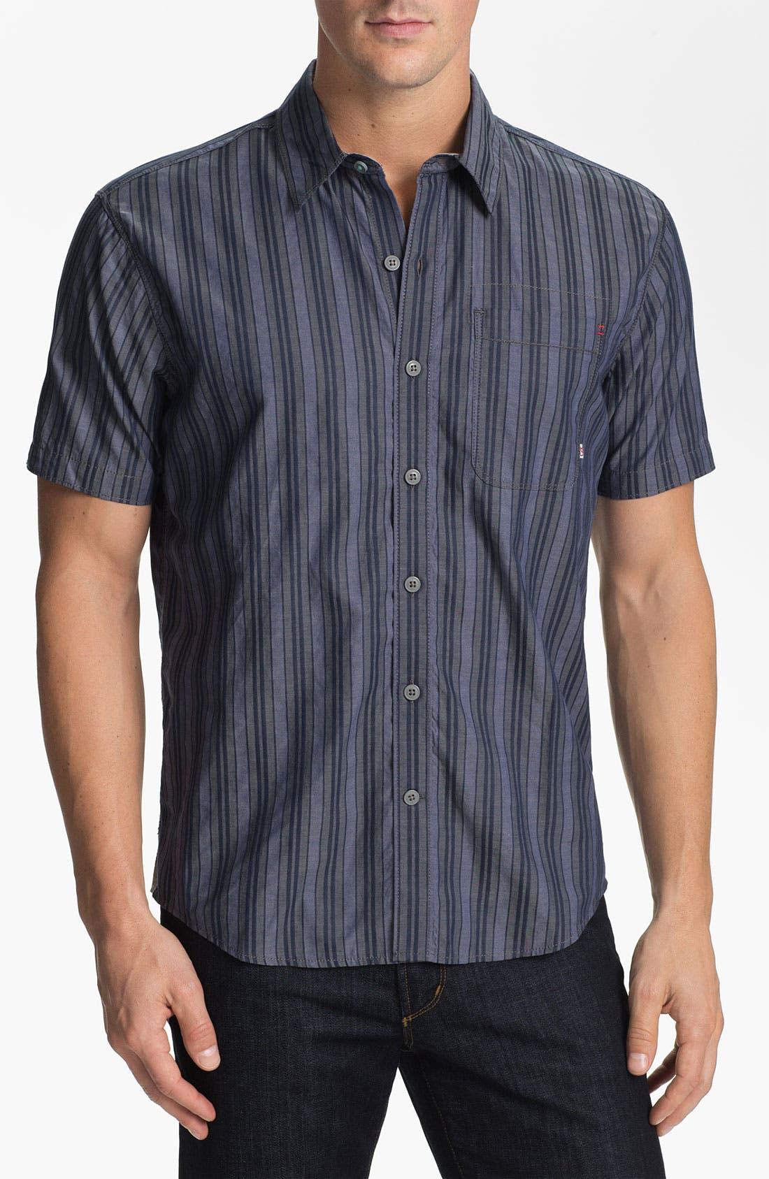 Alternate Image 1 Selected - Cutter & Buck 'Meyer Stripe' Regular Fit Sport Shirt (Big & Tall)