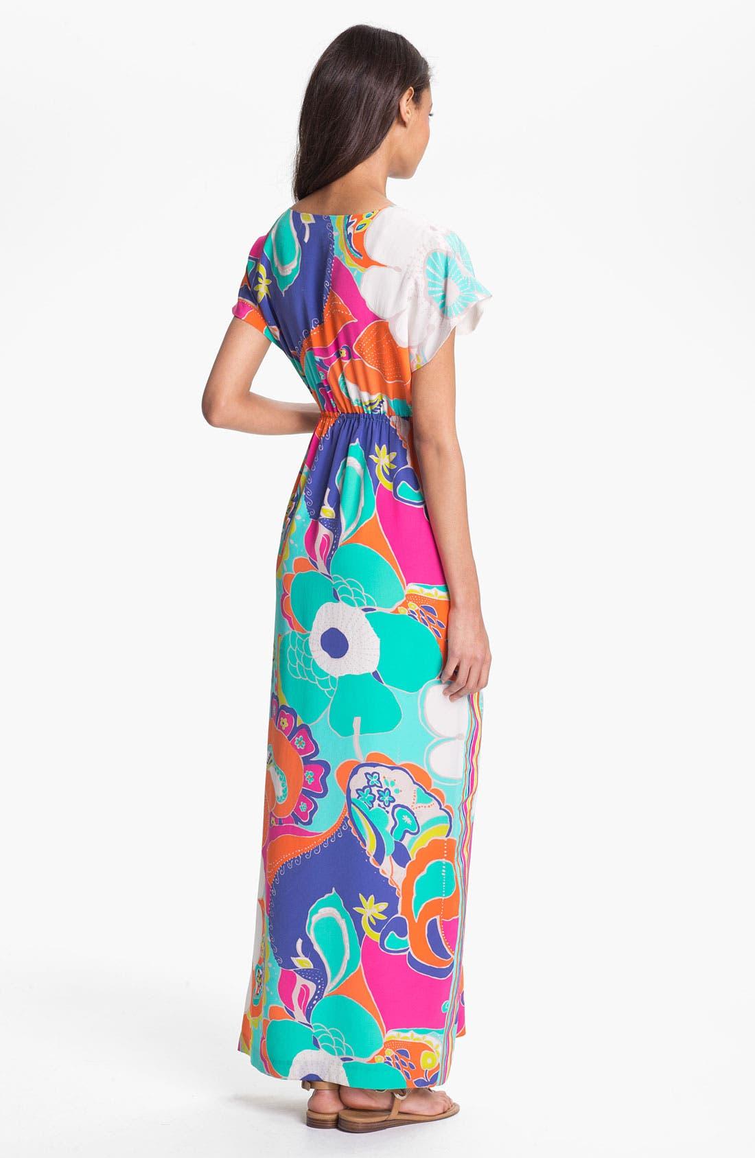 Alternate Image 2  - Trina Turk 'Amrita' Silk Maxi Dress