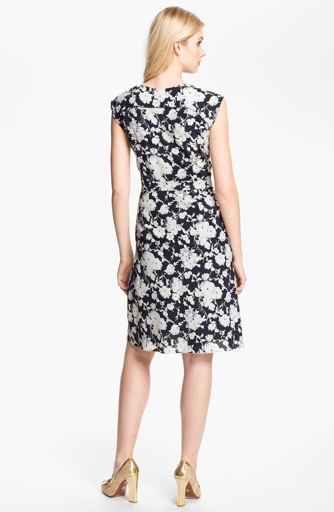 Alternate Image 2  - Tory Burch 'Victoria' Stretch Silk Faux Wrap Dress