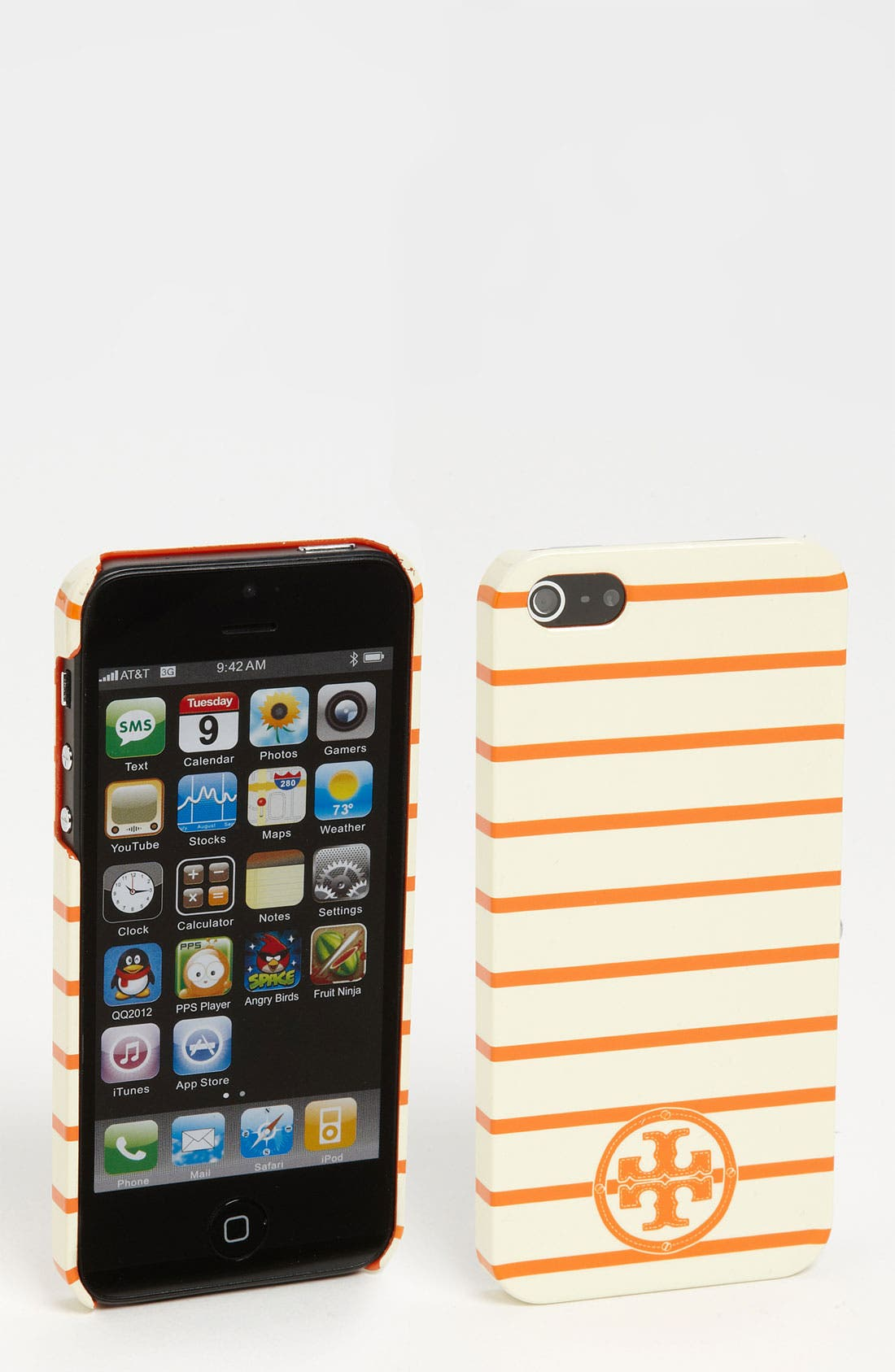 Alternate Image 1 Selected - Tory Burch 'Stacked T Tromp L'Oeil' iPhone 5 Case